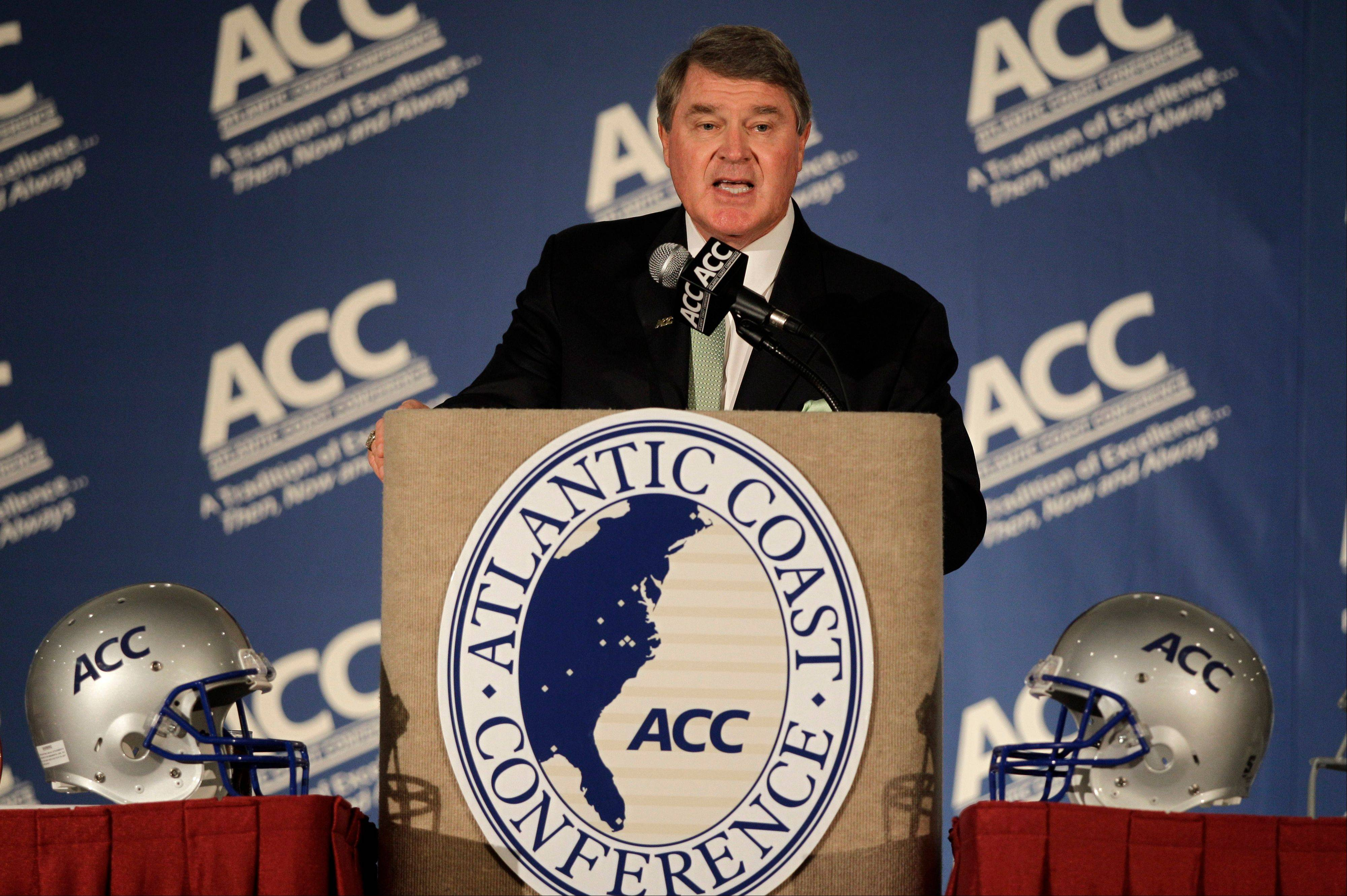 Atlantic Coast Conference commissioner John Swofford is expected to hold a news conference later today to discuss Notre Dame's agreement to leave the Big East for the ACC in all sports but football. The ACC said Wednesday the school will play five football games annually against the league's programs, but will be a full member in all other sports.