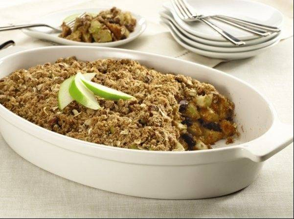 Grocery store websites are filled with recipes, like the one for this Apple Pecan Crisp we spotted from Jewel-Osco.
