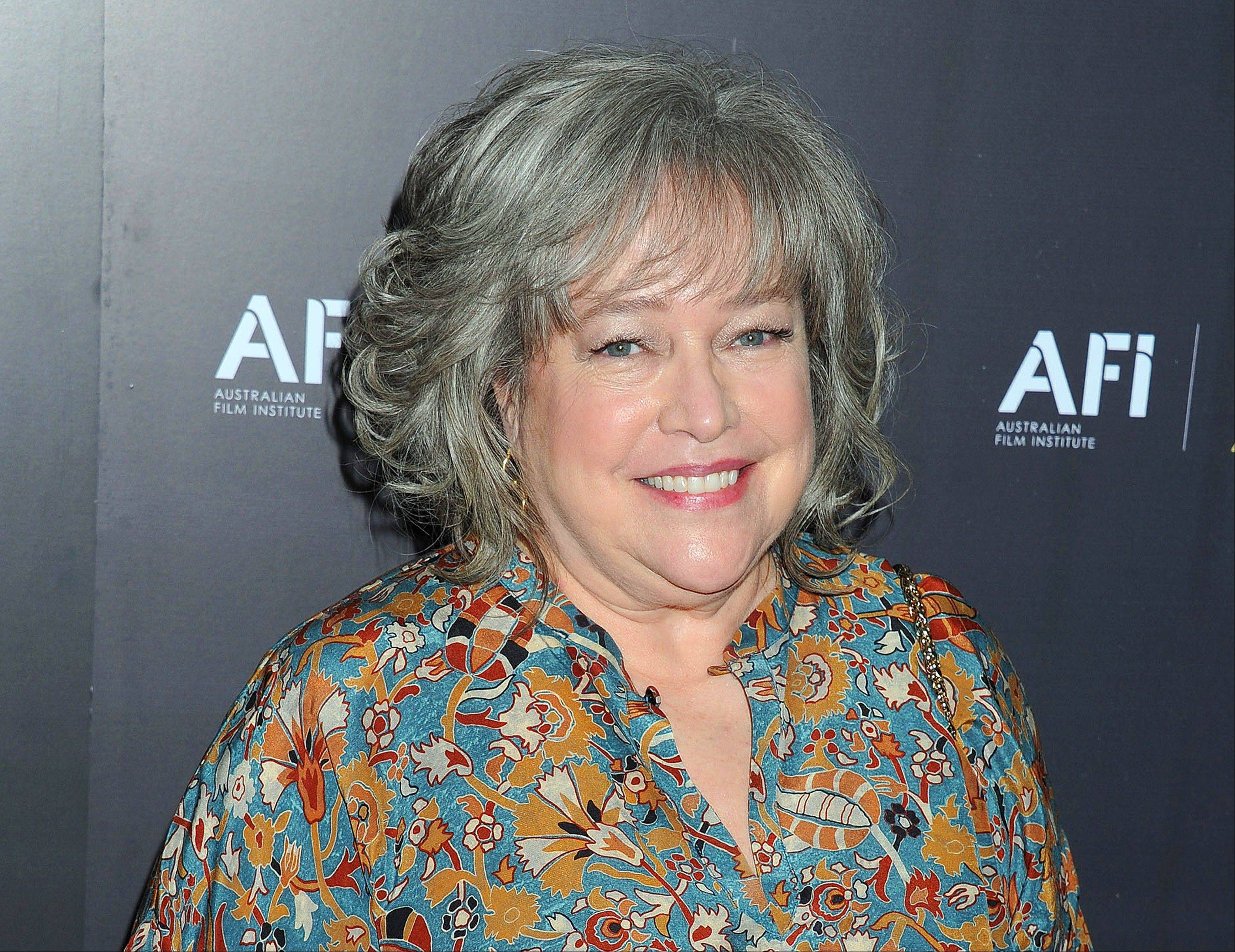This Jan. 27, 2012, file photo shows actress Kathy Bates arriving at the Australian Academy of Cinema and Television Arts Awards at the Soho House, in Los Angeles. Bates, 64, says she is recovering from a double mastectomy.