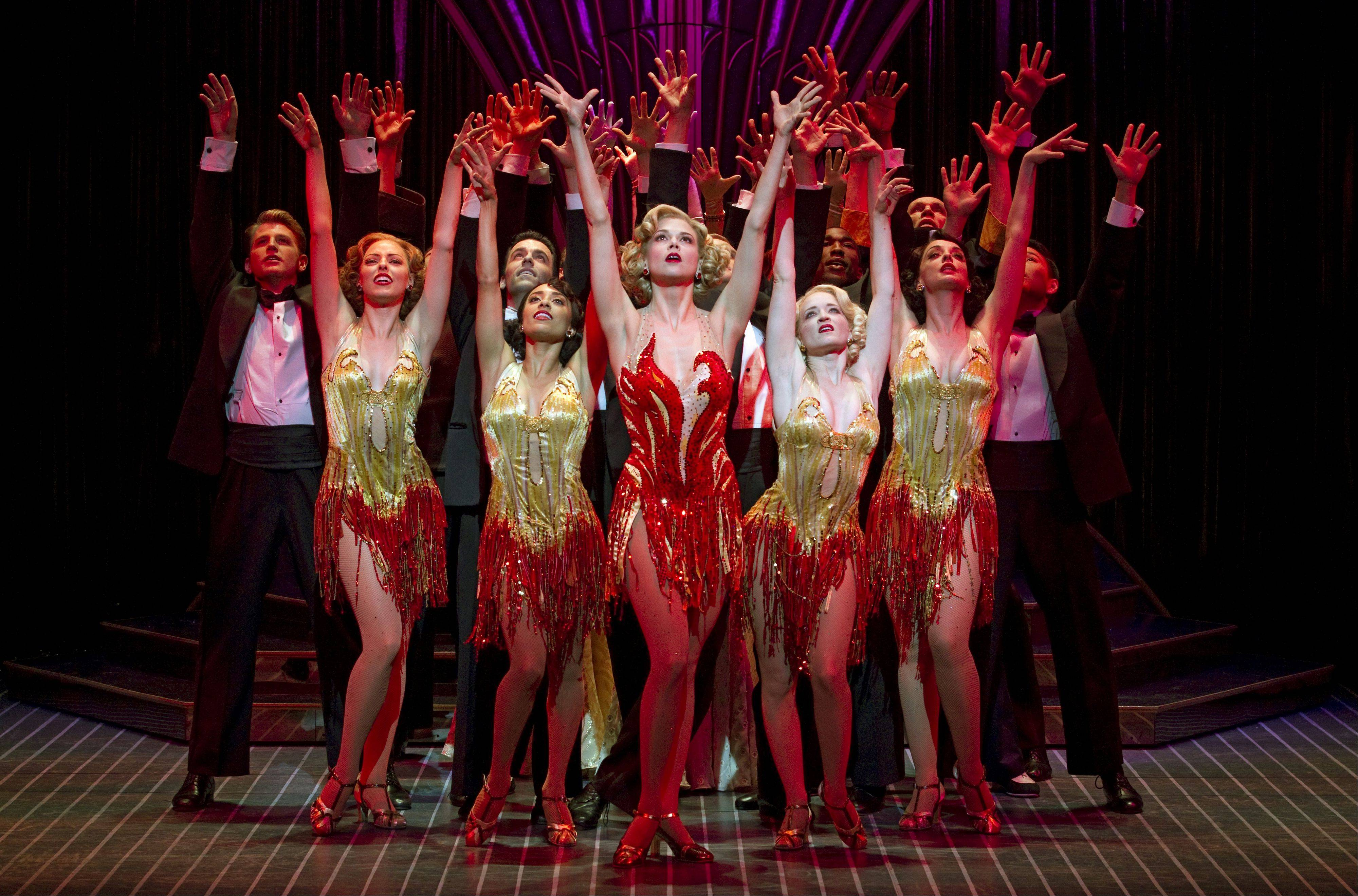 "The Roundabout Theatre Company's 2011 Tony Award-winning revival of Cole Porter's ""Anything Goes"" is set to play Chicago's Cadillac Palace Theatre from April 23 to May 5, 2013. Pictured here is the 2011 Broadway cast."