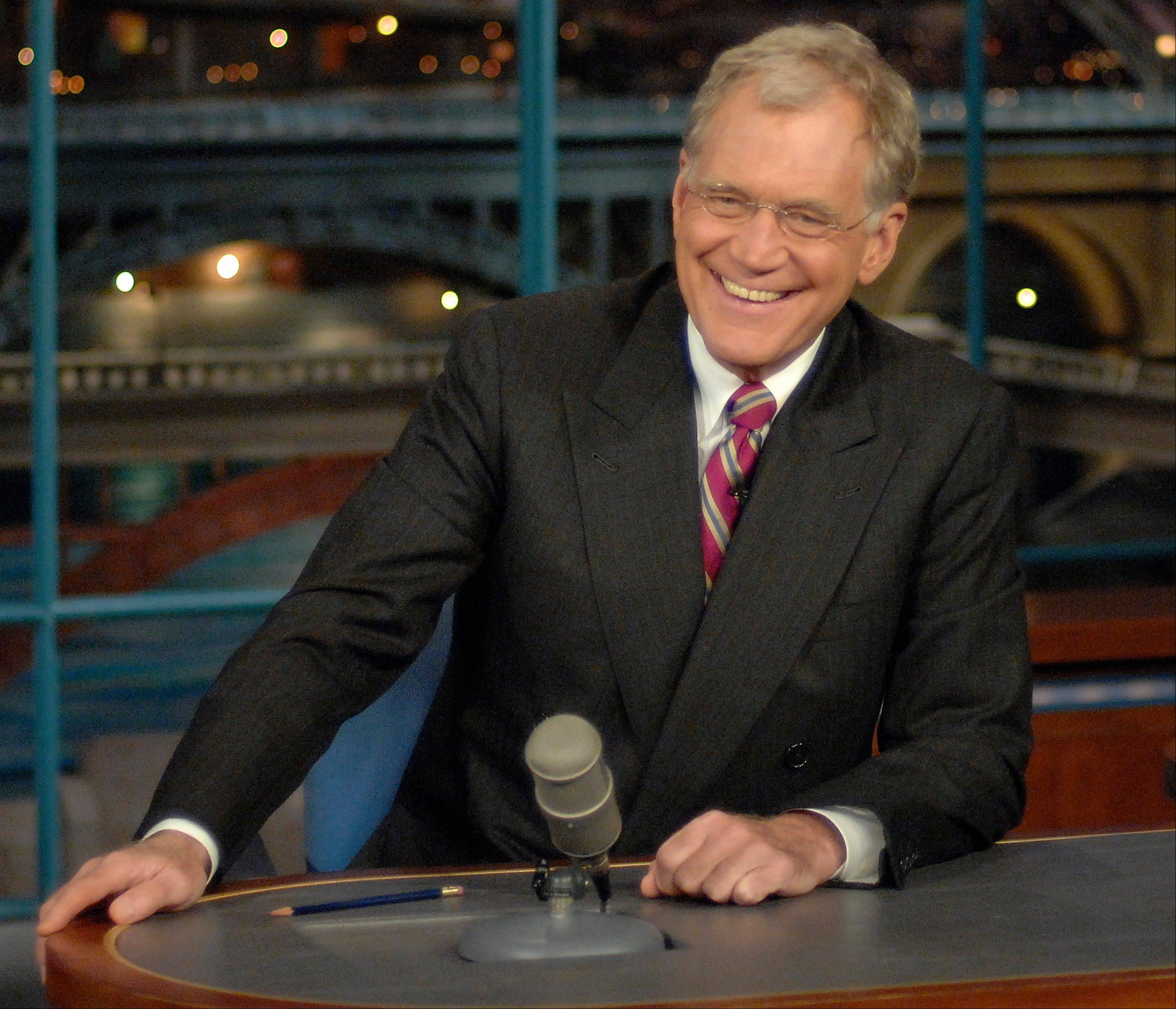 David Letterman and Dustin Hoffman are among seven people receiving the 2012 Kennedy Center Honors.