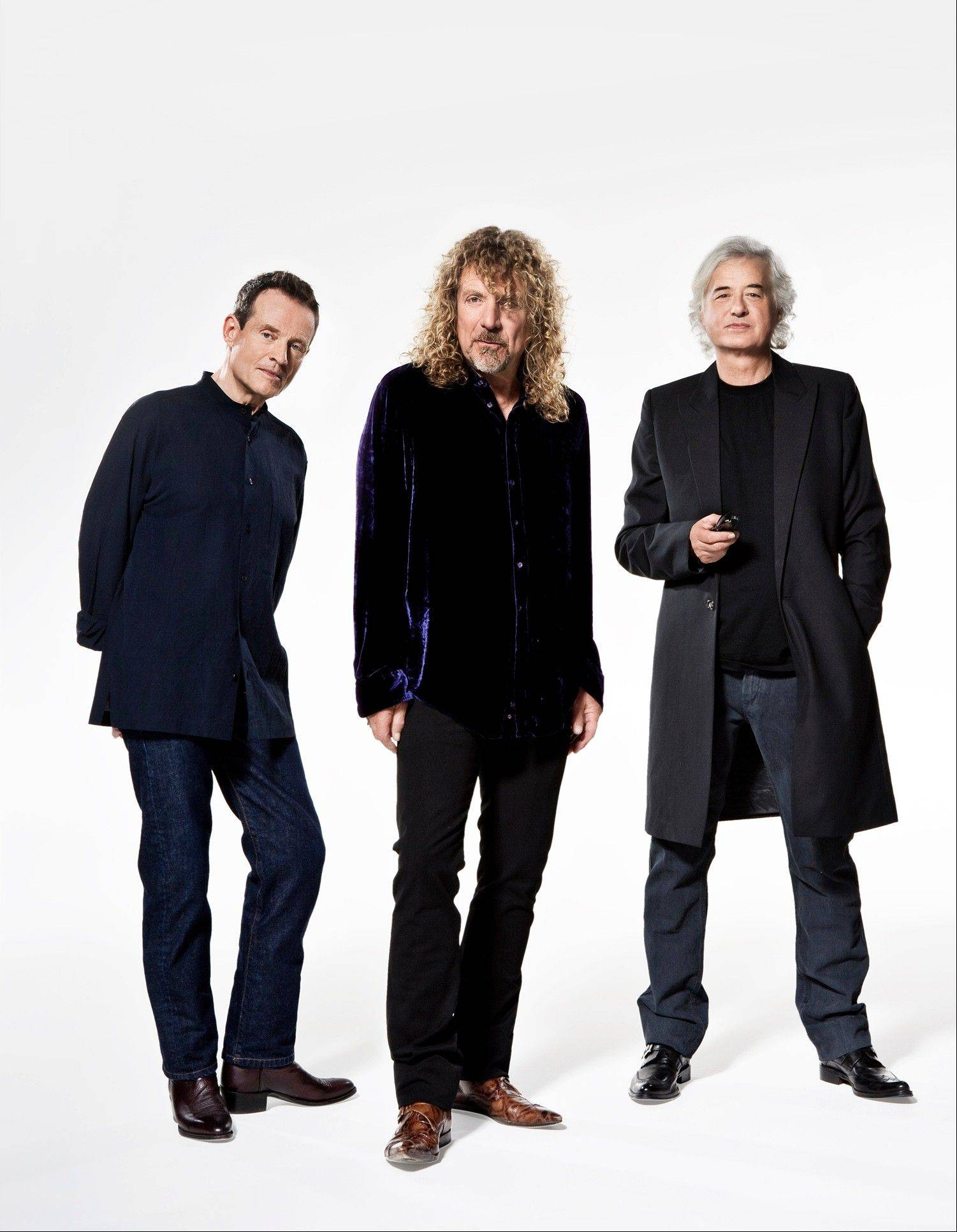 Members of Led Zeppelin, from left, John Paul Jones, Robert Plant and Jimmy Page will be receiving the 2012 Kennedy Center Honors.