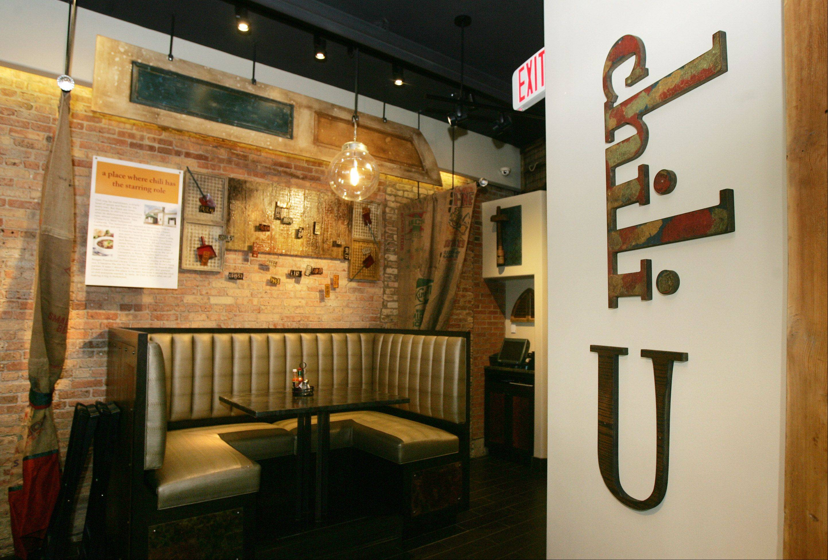 The bar at Chili U in Libertyville offers 15 draft beers and a number of specialty cocktails.