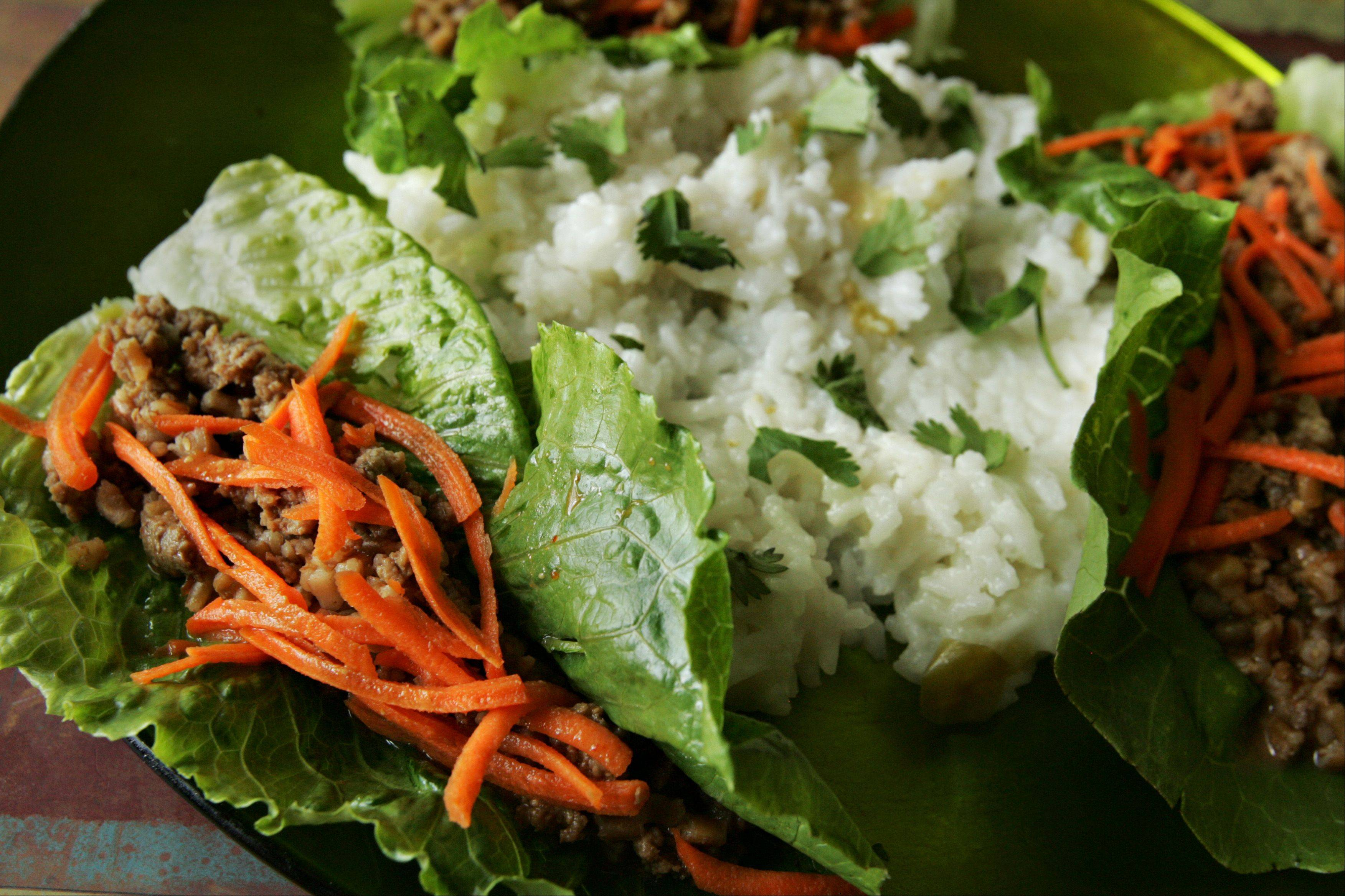 Michael Pennisi's Asian-style turkey and lettuce wraps won the 365 Everyday Value coconut milk recipe challenge.