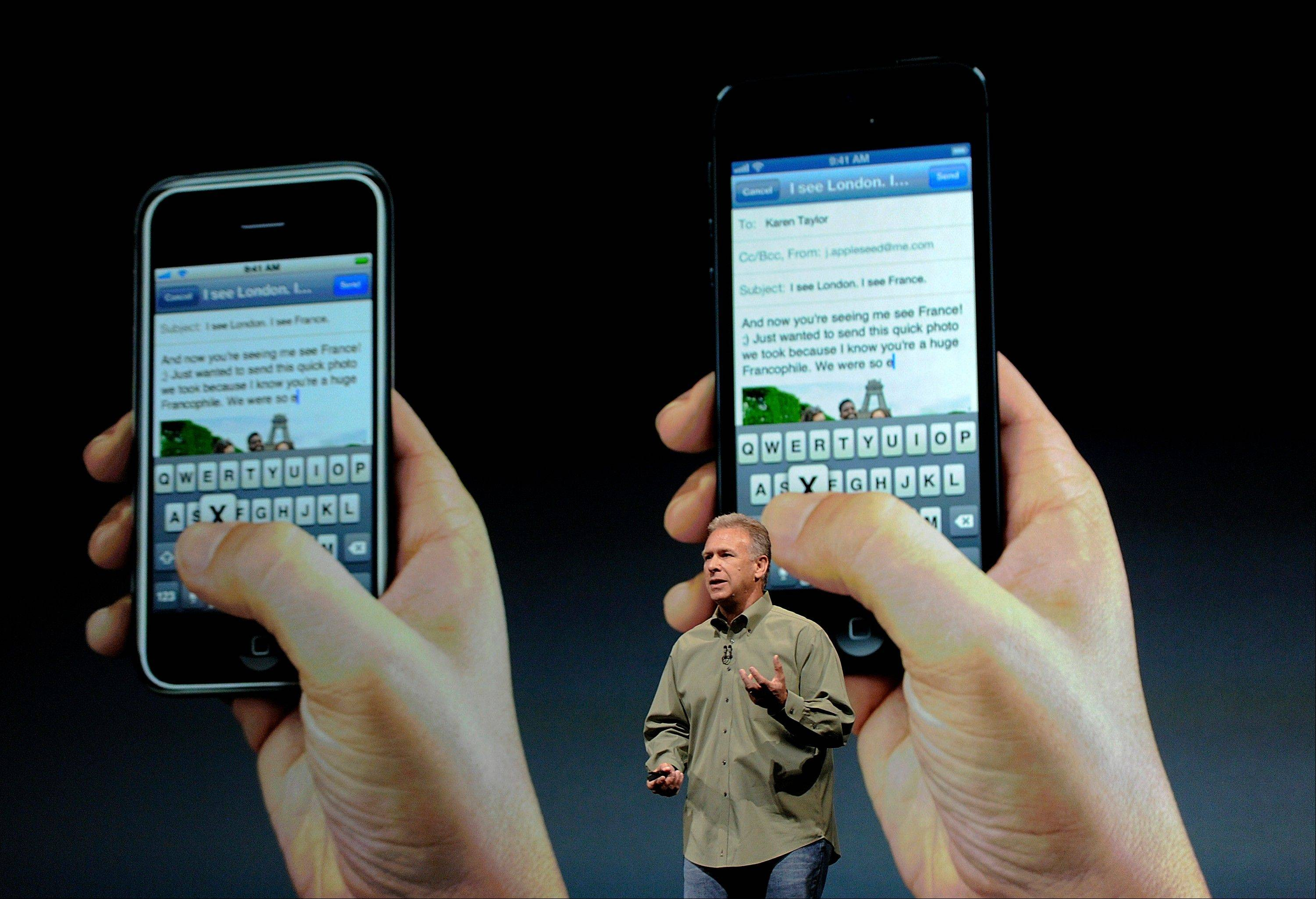 "Philip ""Phil"" Schiller, senior vice president of worldwide marketing at Apple Inc., speaks during an event in San Francisco, California, U.S., on Wednesday, Sept. 12, 2012."