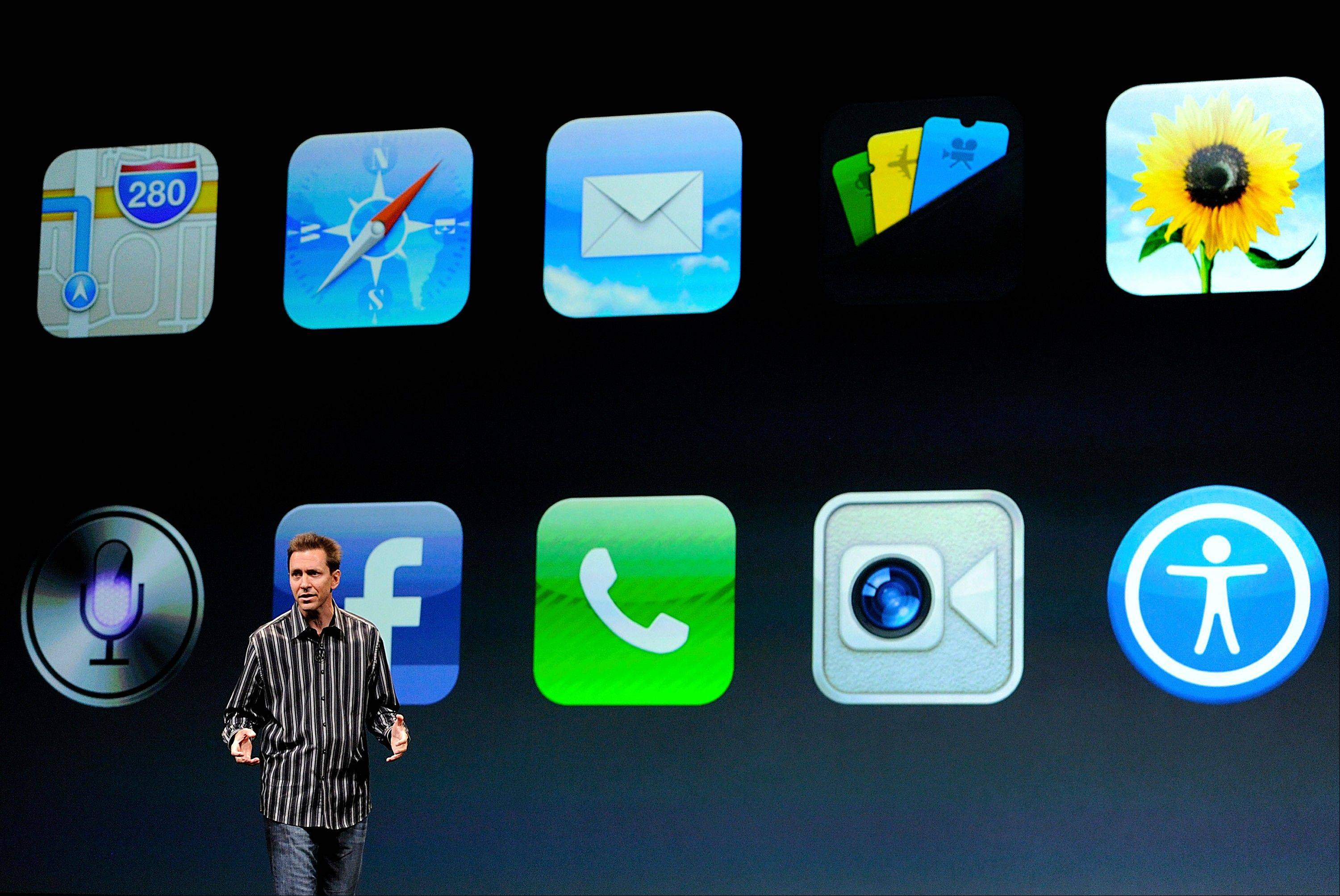Scott Forstall, senior vice president of iPhone iOS Software at Apple Inc., speaks during an event in San Francisco, California, U.S., on Wednesday, Sept. 12, 2012.
