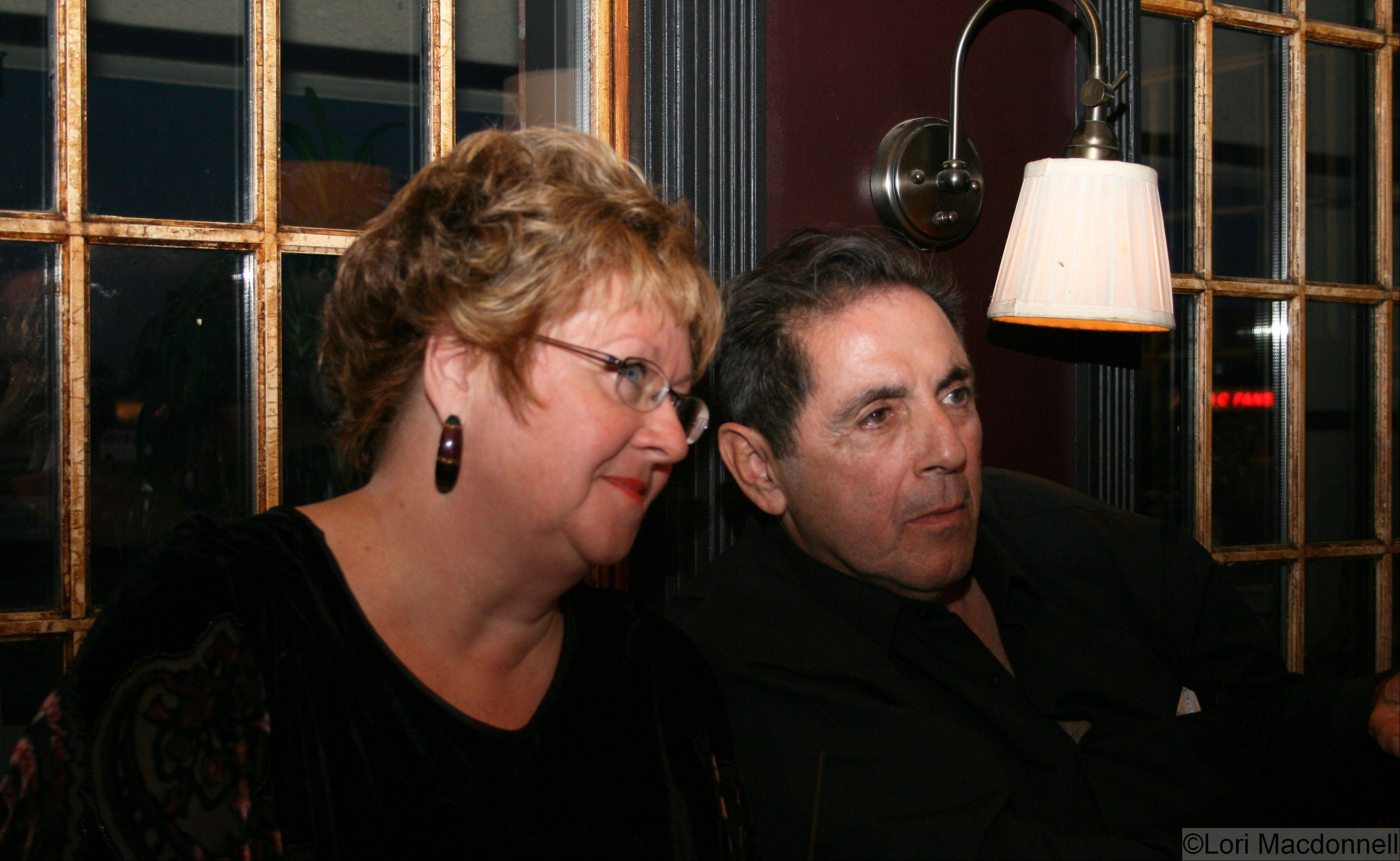 "Founder Glessna Coisson sits with ""Sopranos"" star David Proval during 2008's first Naperville Independent Film Festival."
