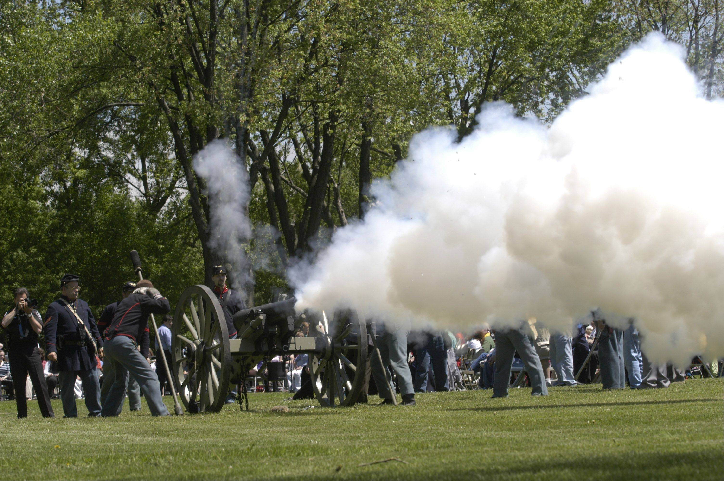 Civil War re-enactors group Taylor's Battery will fire a canon hourly during Depot Days. Between blasts, group members will portray individuals from the Civil War and interact with visitors.