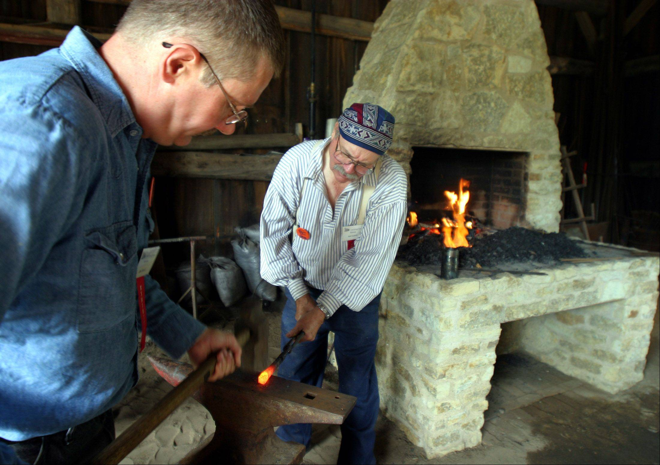 Demonstrations of settlement-era hobbies and trades -- like blacksmithing -- run throughout Saturday and Sunday at Lisle's Depot Days.