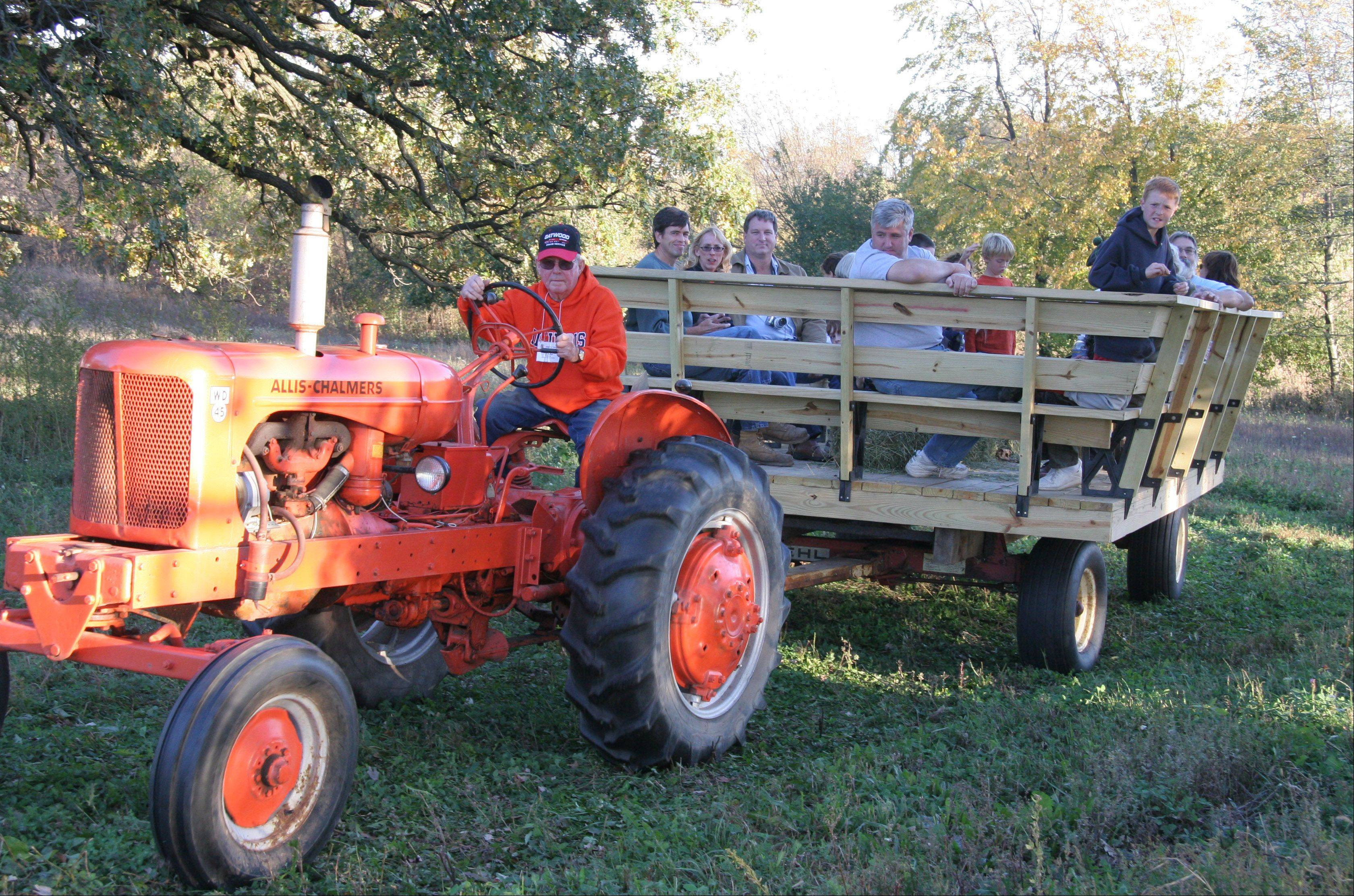 Tractor rides are among the offerings at Prairie Fest at Corron Farm.