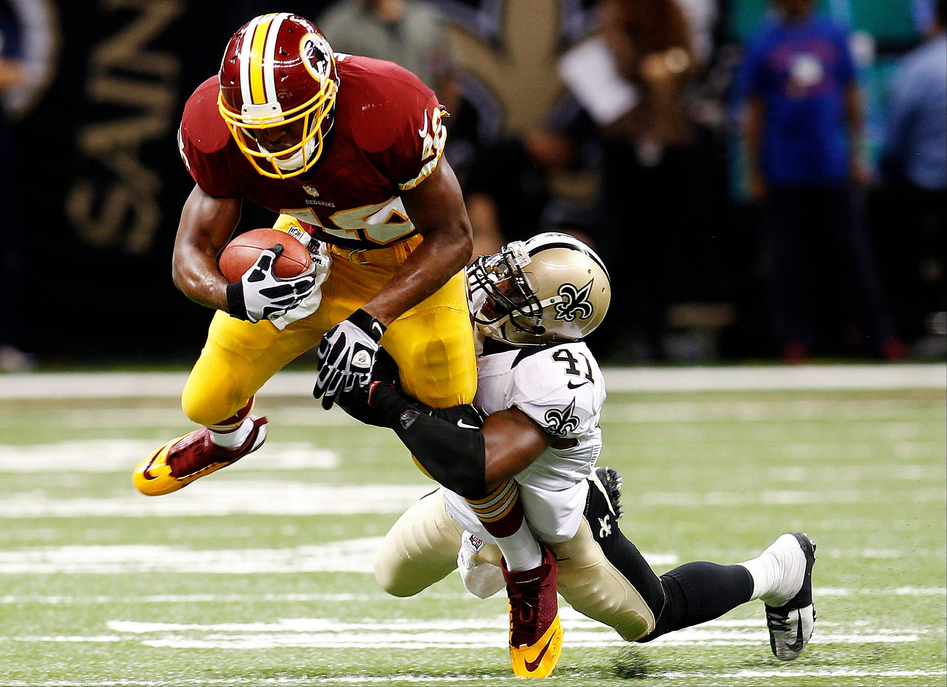 Washington Redskins running back Alfred Morris is a very popular free agent pick up in many leagues this week.