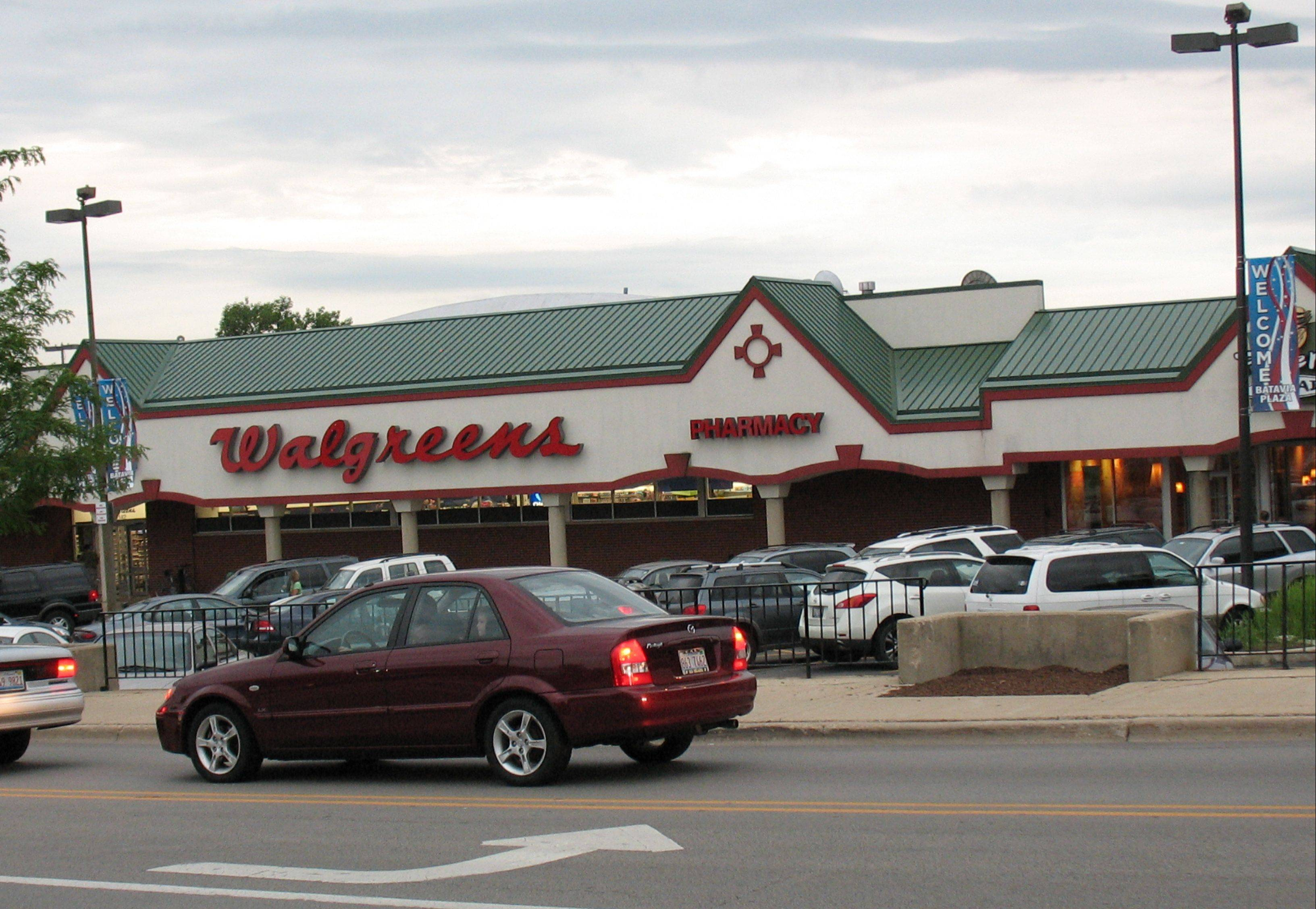 The current Walgreens in downtown Batavia.