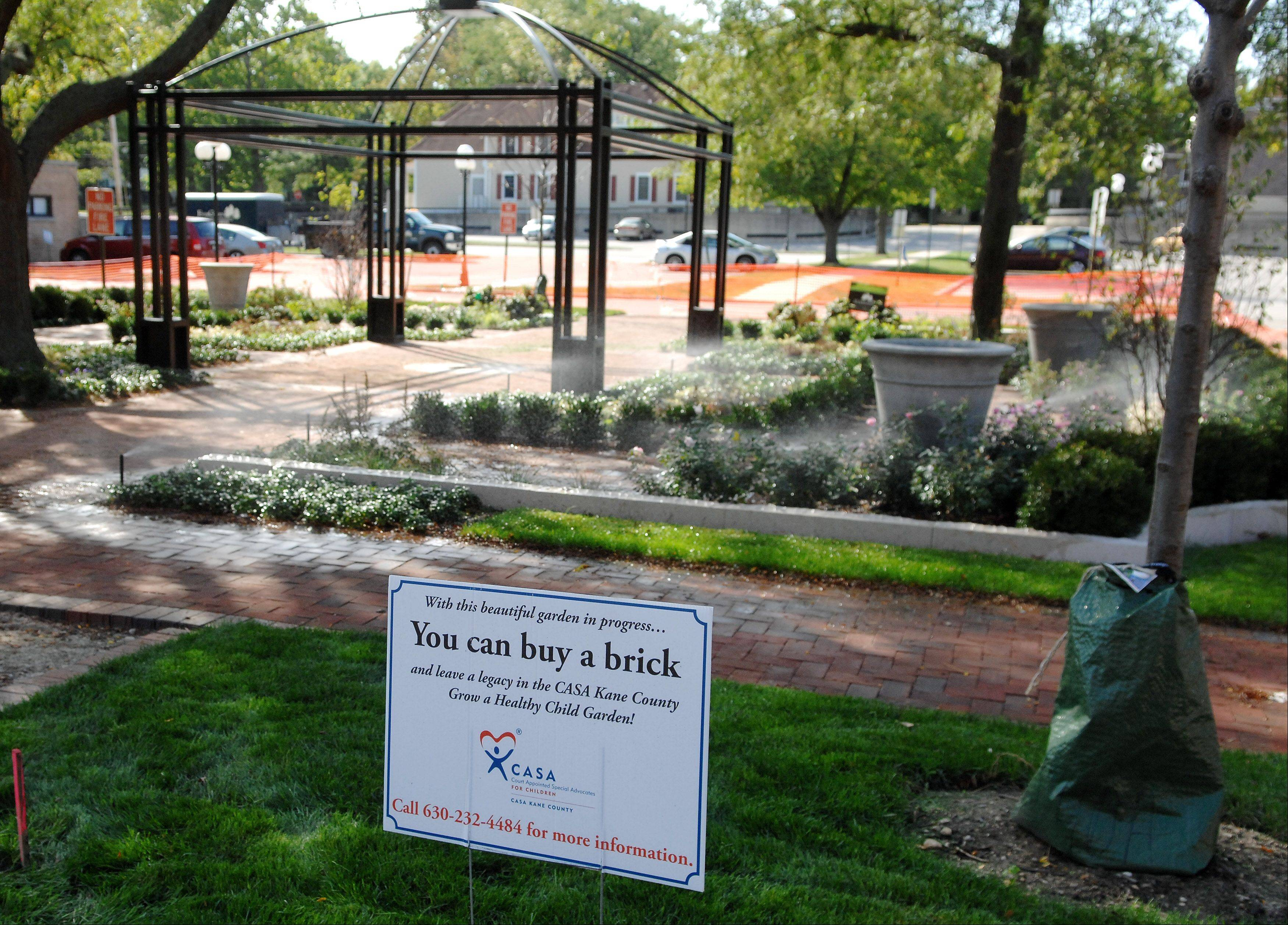 Work is nearly done on the CASA Kane County Healing Garden in downtown Geneva. The group is hoping to raise $1 million for an endowment fund through the garden. The garden is also a place for court personnel and community members to relax.
