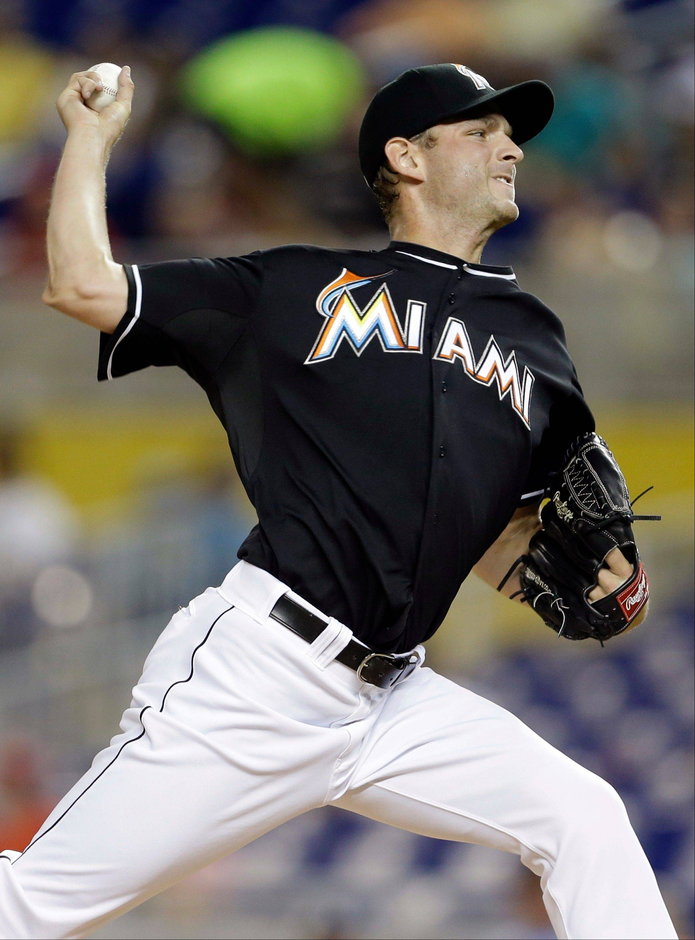 Miami Marlins starting pitcher Jacob Turner allowed only two hits Friday in a home win over Cincinnati.