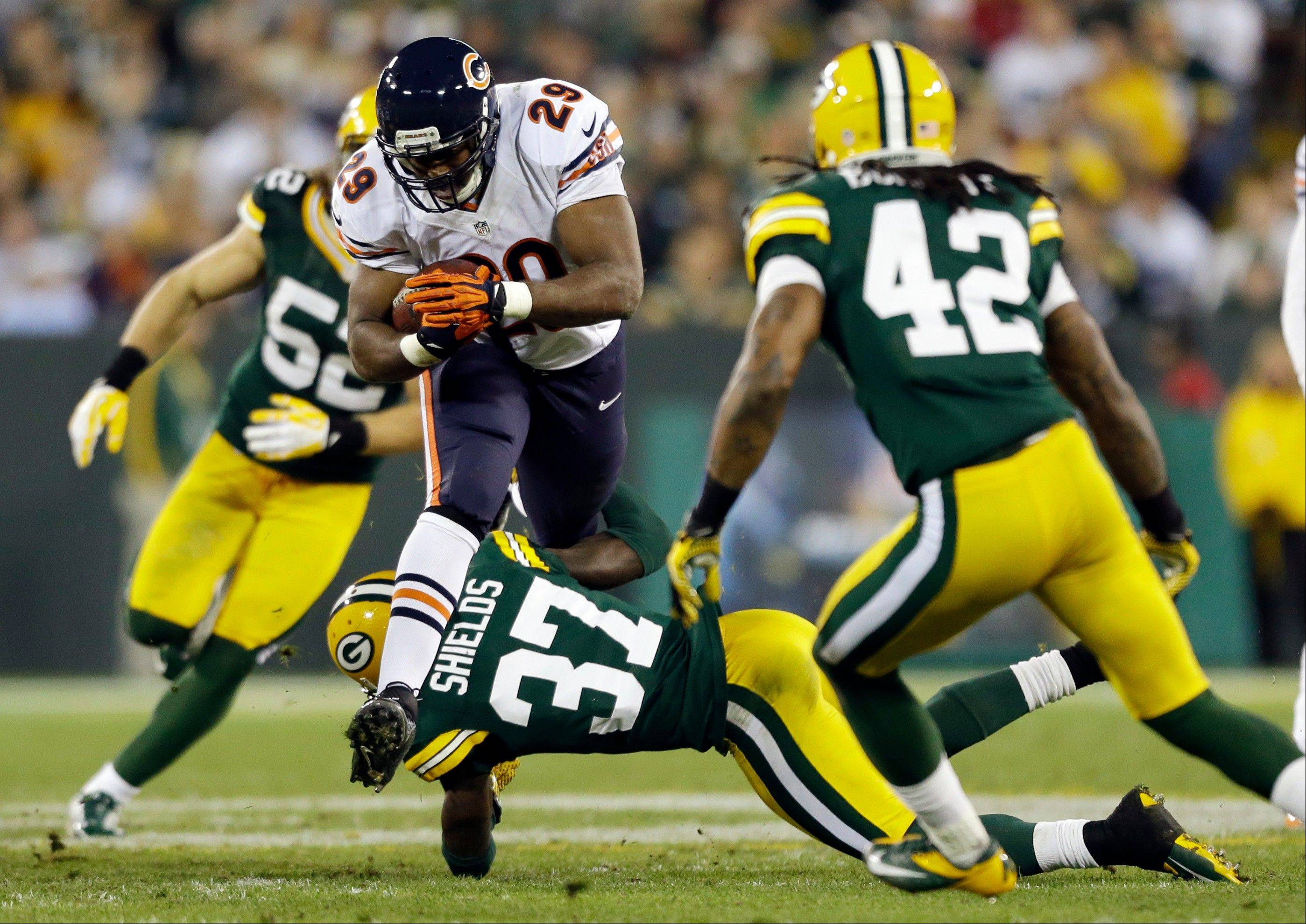 Chicago Bears' Michael Bush runs during the second half.
