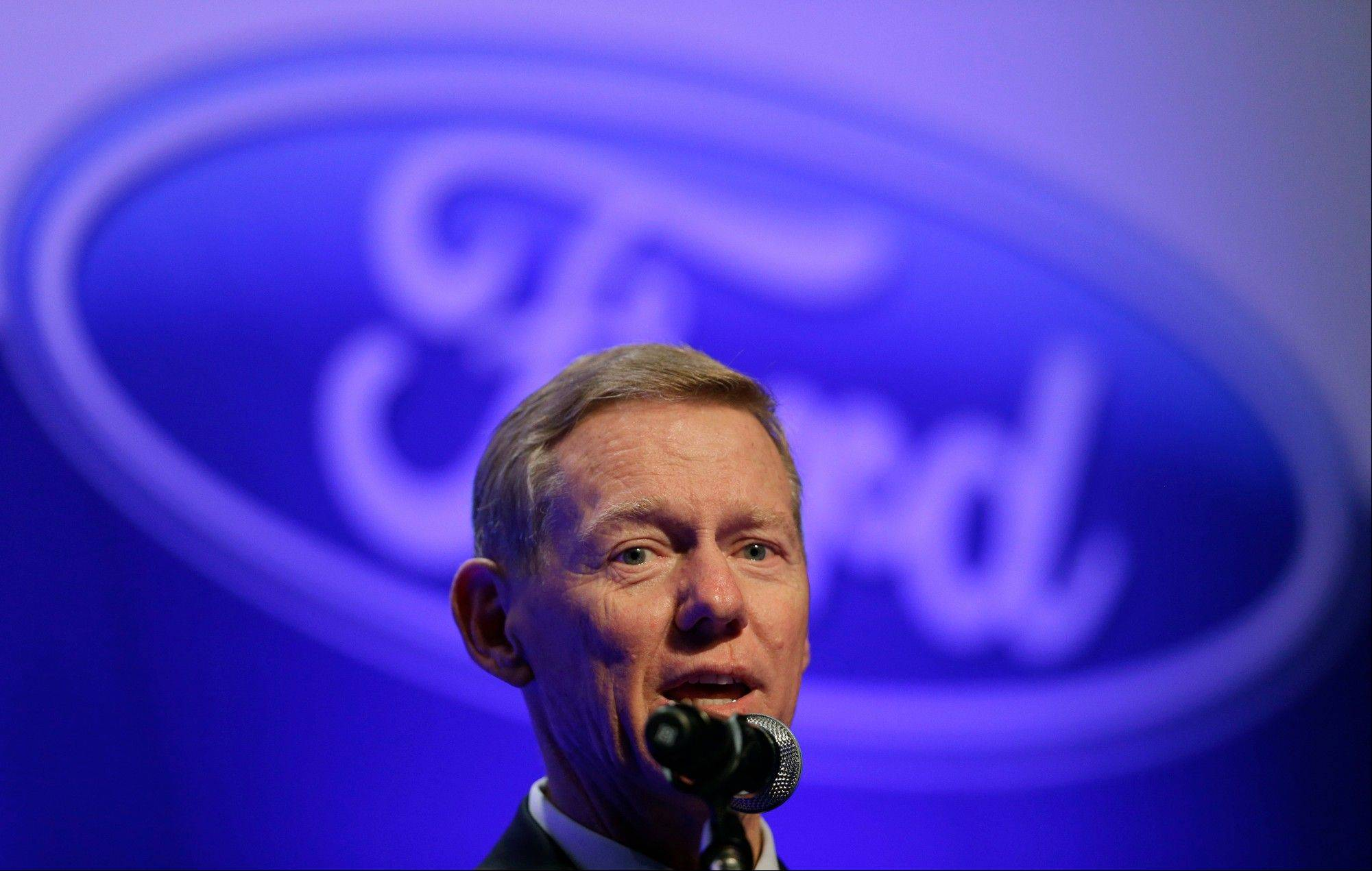 Associated Press/Aug. 31, 2012Alan Mulally, the Global CEO of Ford Motor Co., answers reporters' question during news conference in Seoul, South Korea.