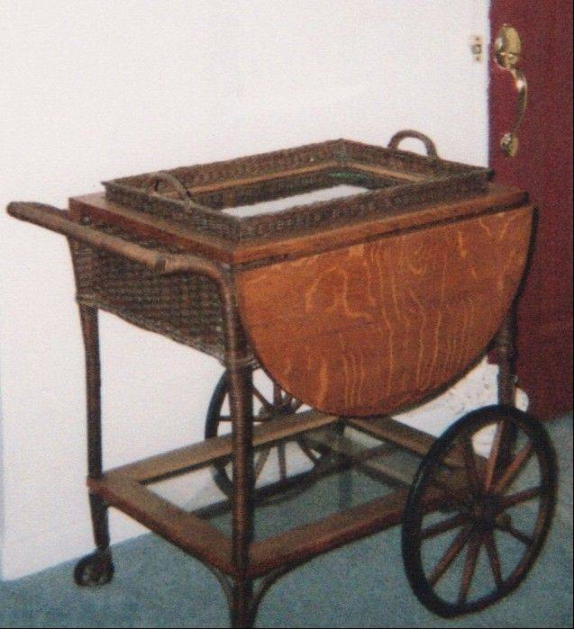 Tea carts were once popular in American homes, but now are out of fashion.