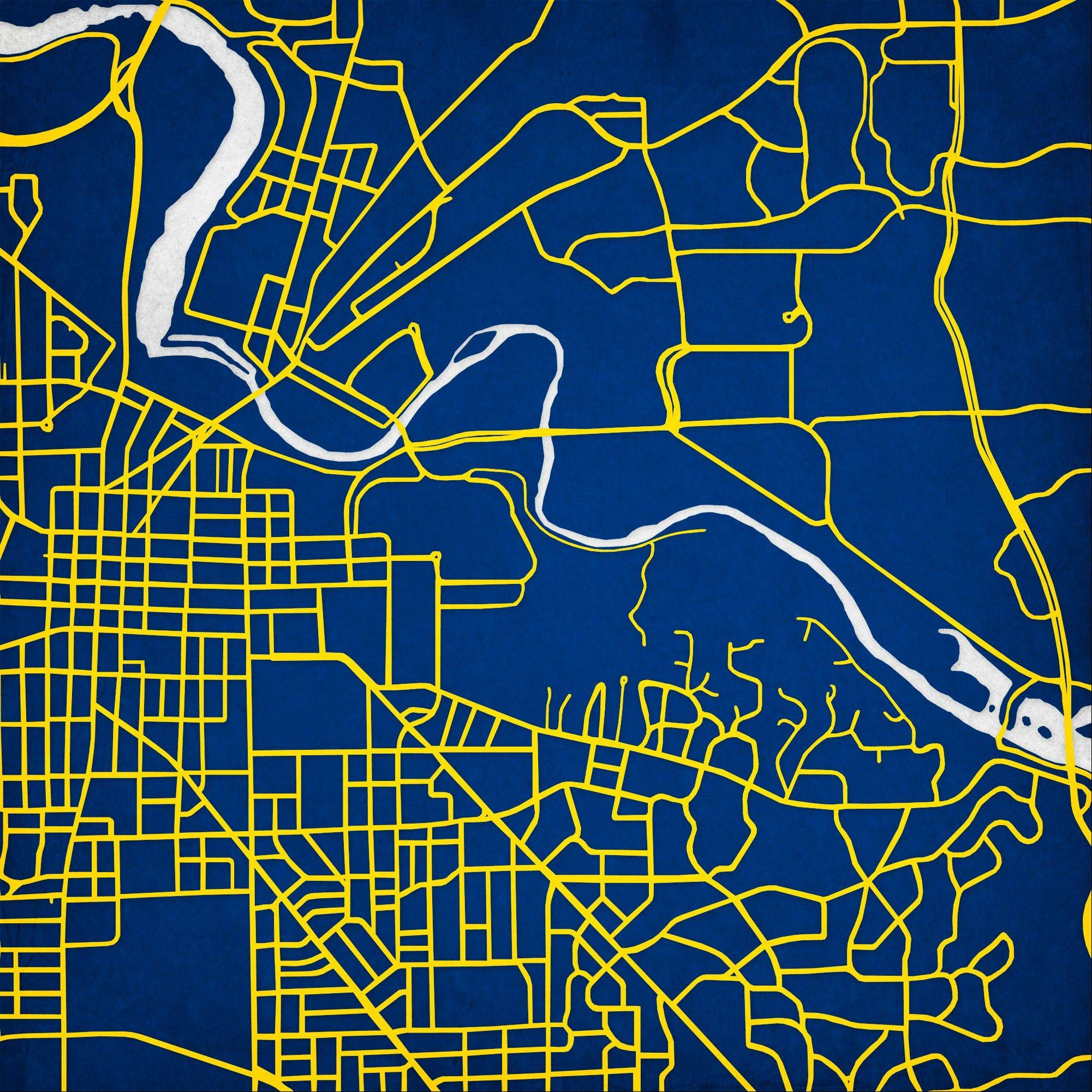 A map of the University of Michigan is shown from Atlanta-based City Prints Map Art.