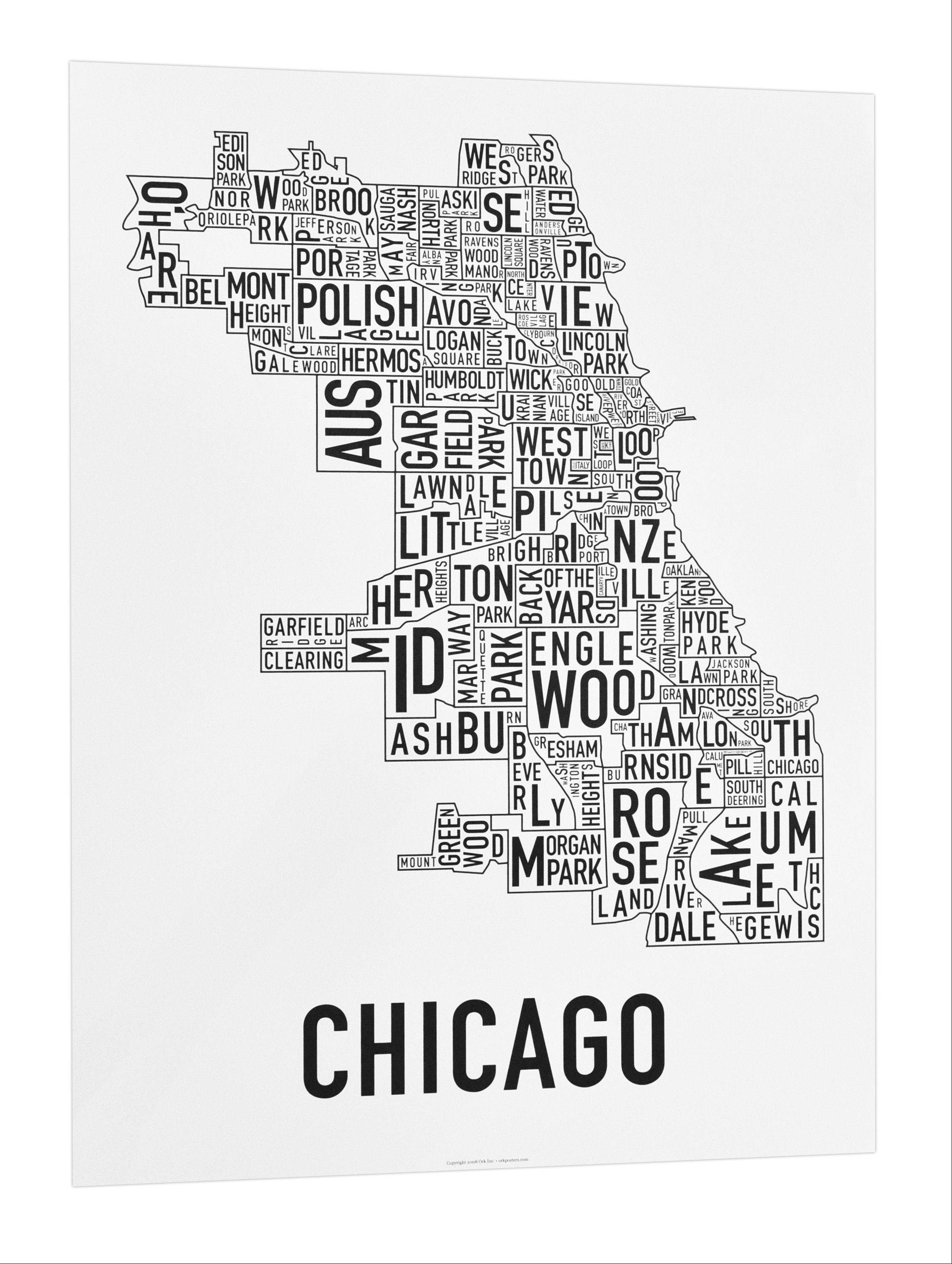 Jenny Beorkrem, a designer and founder of Ork Posters in Chicago, has created neighborhood maps of various cities around the country.