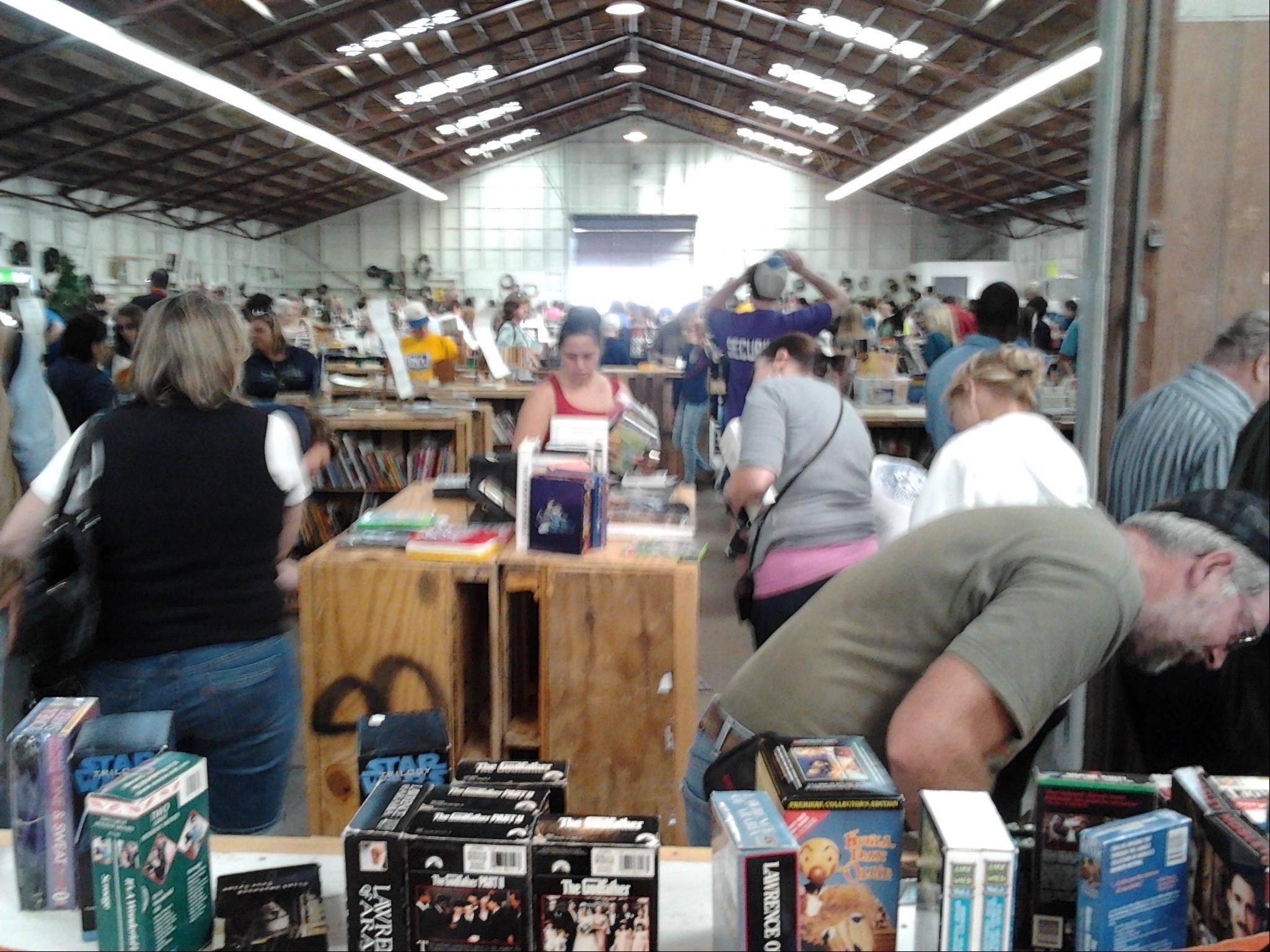 Organizers were expecting up to 10,000 visitors to attend this weekend's St. Peter Barn Sale at the Kane County Fairgrounds in St. Charles. A steady was crowd lured by inexpensive merchandise on Saturday.