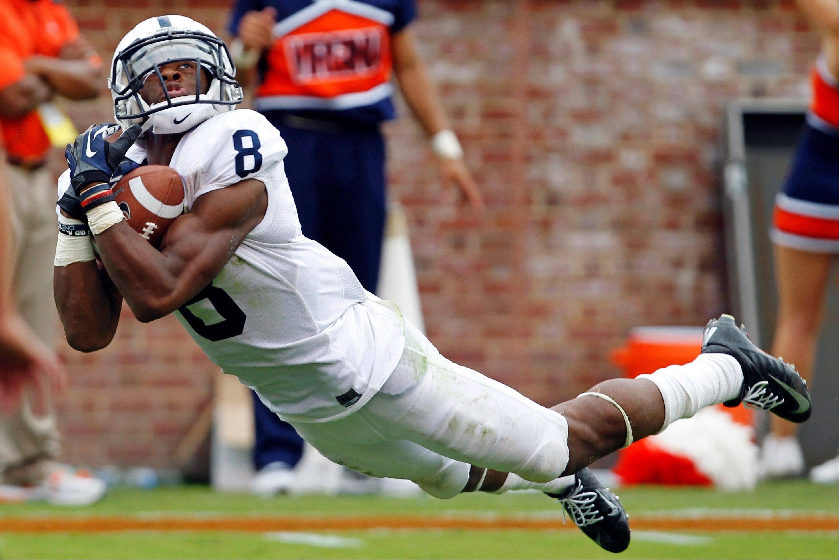 Penn State wide receiver Allen Robinson makes a touchdown catch last Saturday in a loss to Virginia.