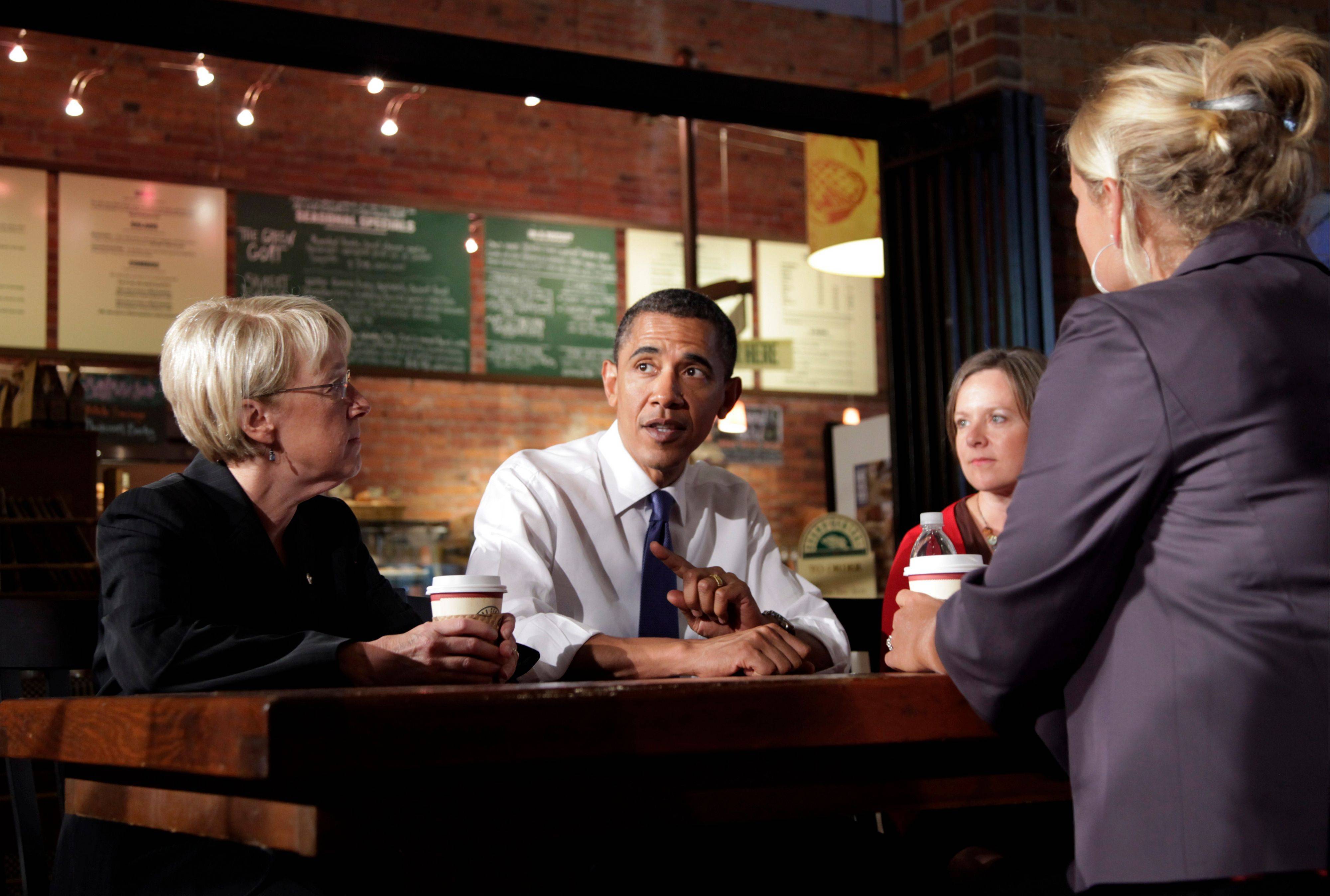 President Barack Obama speaks during a round-table discussion with small business owners at Grand Central Bakery in Seattle. In an election year when the economy and small business have combined to form a huge campaign issue, advocacy groups like the Small Business & Entrepreneurship Council step up their own campaigns on behalf of the company owners they represent.