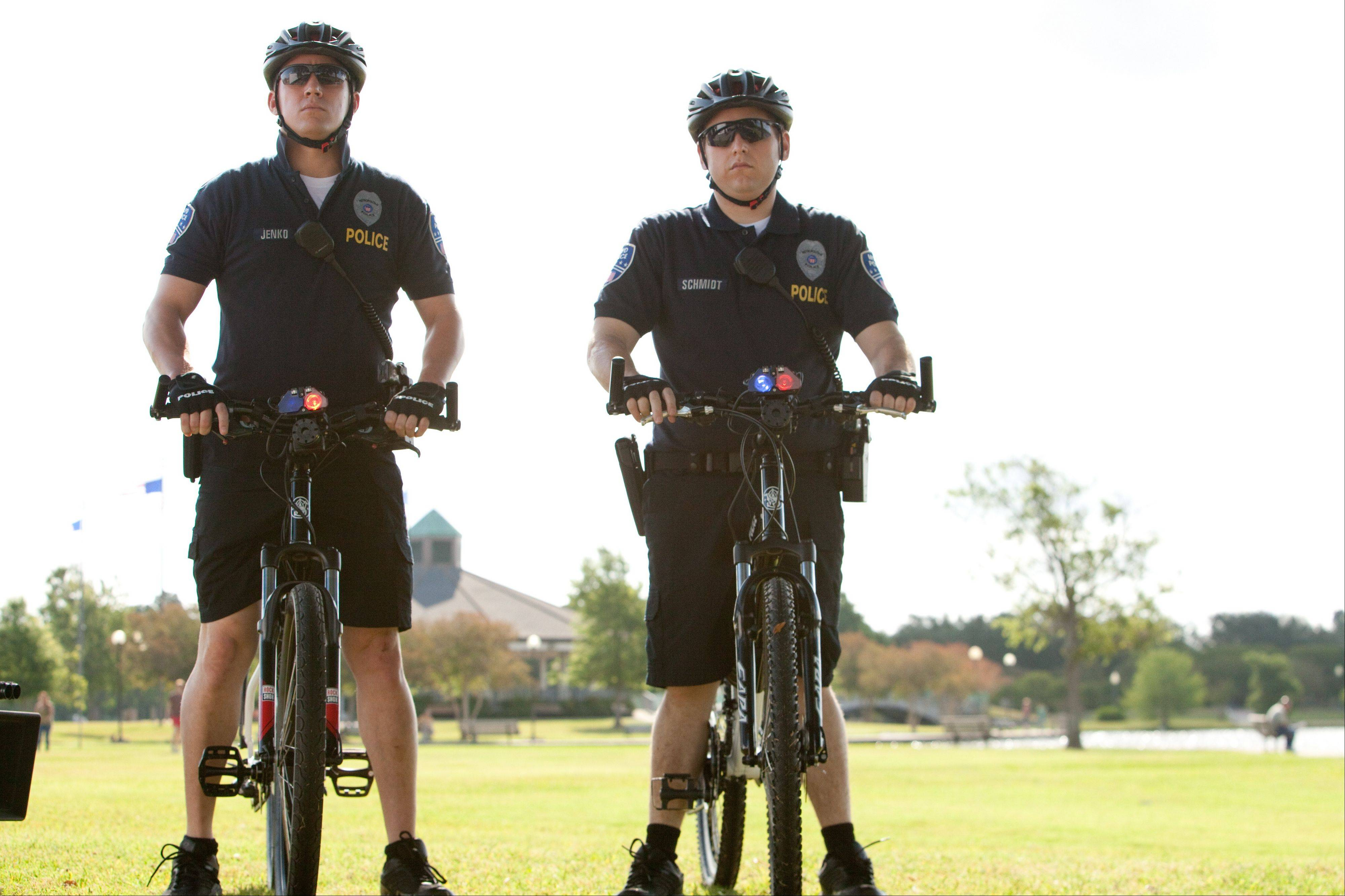 "In this file photo released by Columbia Pictures, Jonah Hill, right, and Channing Tatum are shown in a scene from ""21 Jump Street."""