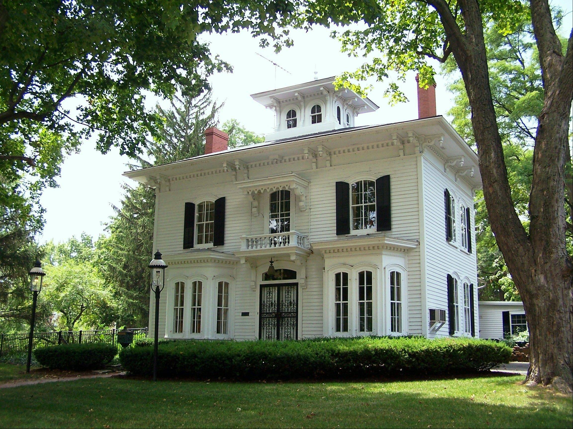 "The Joel McKee House, circa 1865, is a very high-style Italianate in Batavia with many original features, including windows, interior staircase and newel post. The house also has an original circa 1850 ""core"" that was built first, by McKee, who later added the more elaborate front section."