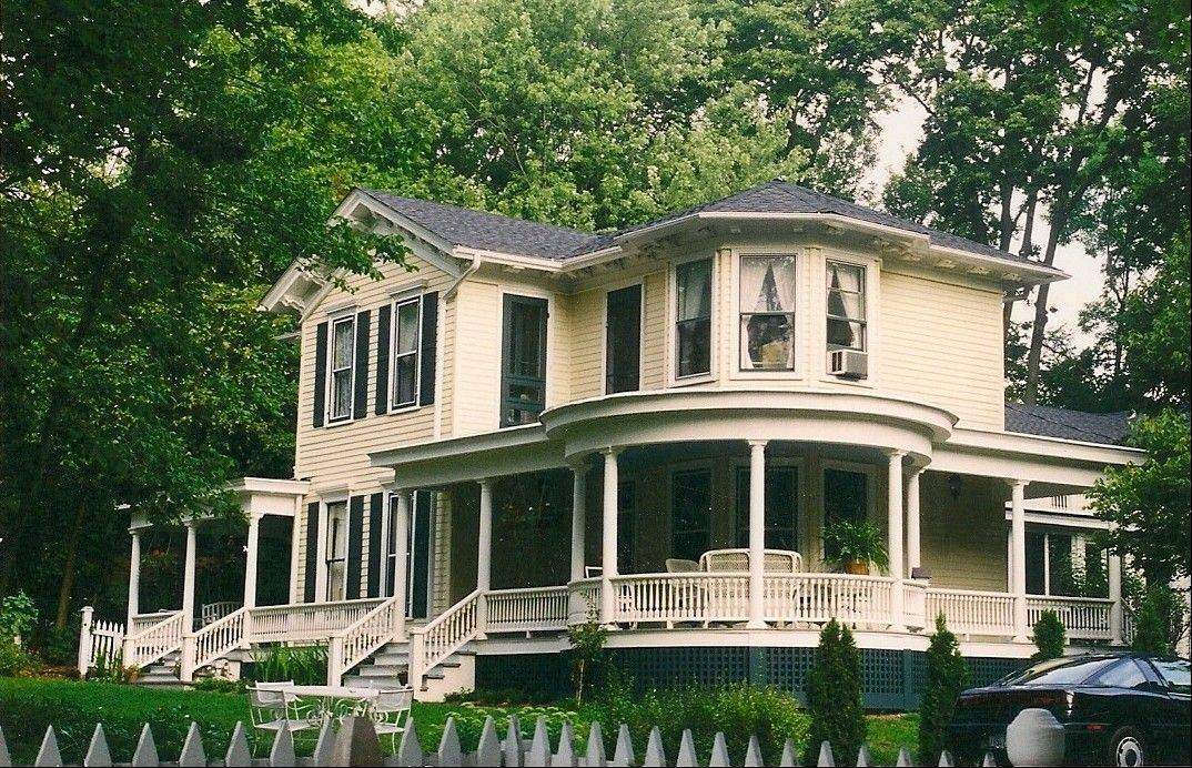 This 1855 farmhouse, the Lebaron Turner home on Fulton Street in Geneva, is actually a blending of Greek Revival and Italianate styles. It has undergone two major restorations in the past decade, including one replacing an expansive, curving front porch in 2002.