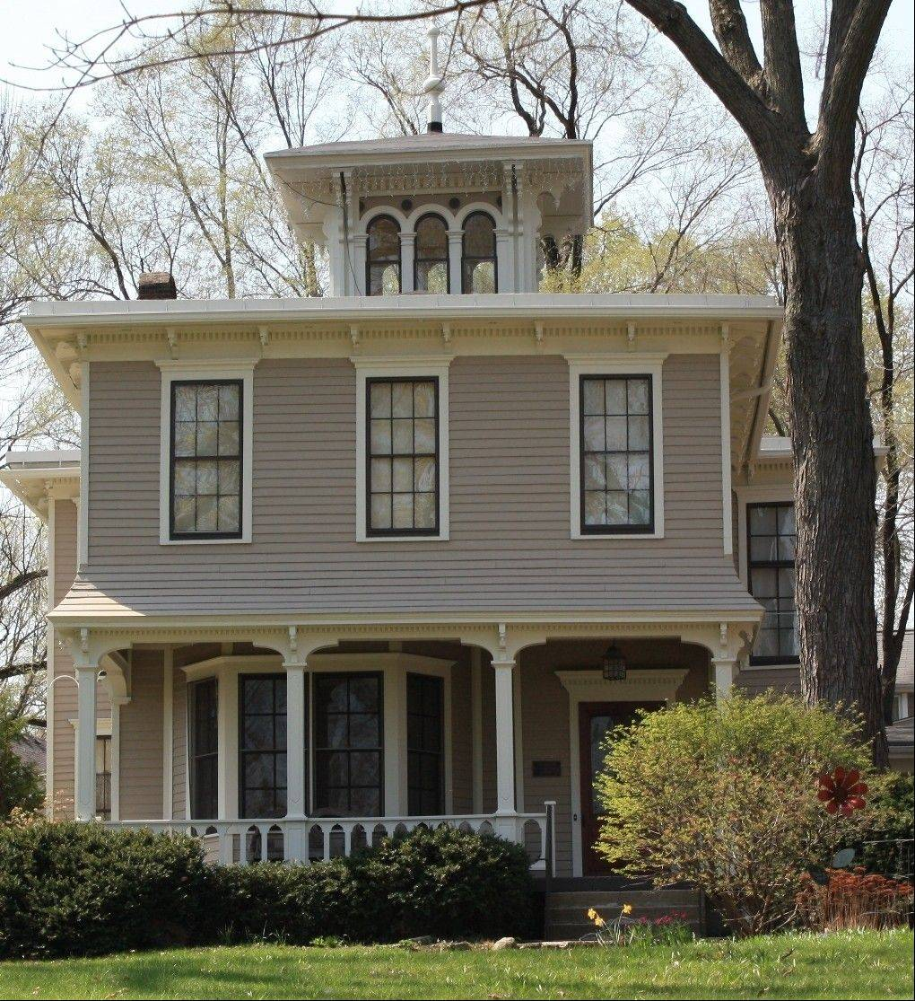 The Giles Spring House on Shady Avenue in Geneva was built in 1850 and boasts the first cupola in the Tri-Cities. This Italianate Villa-style home has its marble fireplaces, original windows and interior woodwork still intact.
