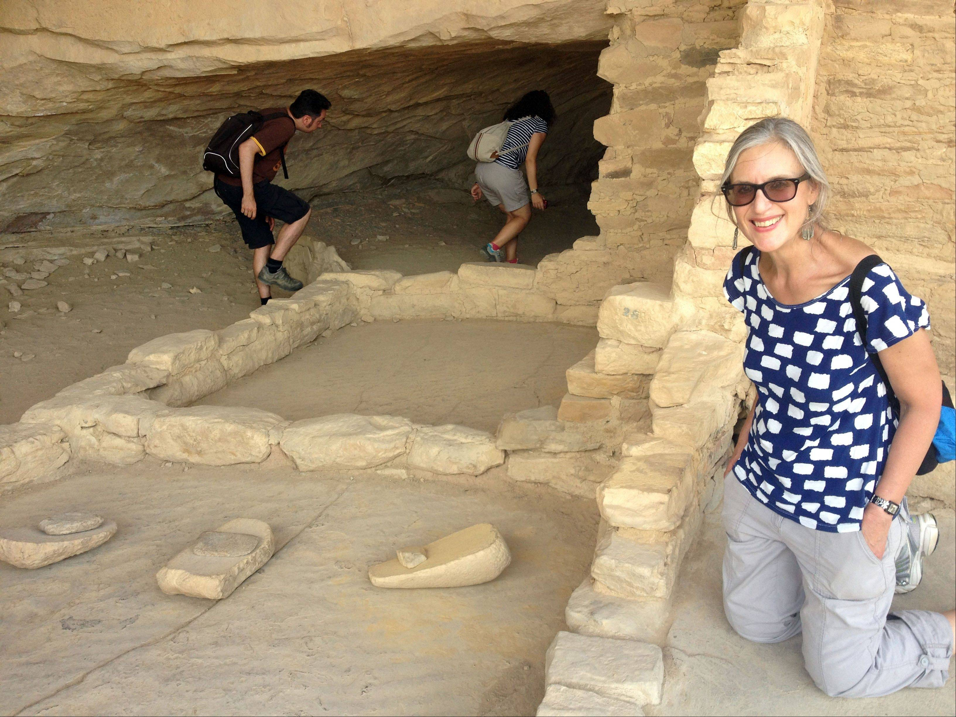 Writer Karen Matthews visited Balcony House in Mesa Verde National Park this summer. The tools shown called manos and metates, excavated there, were used for grinding corn.