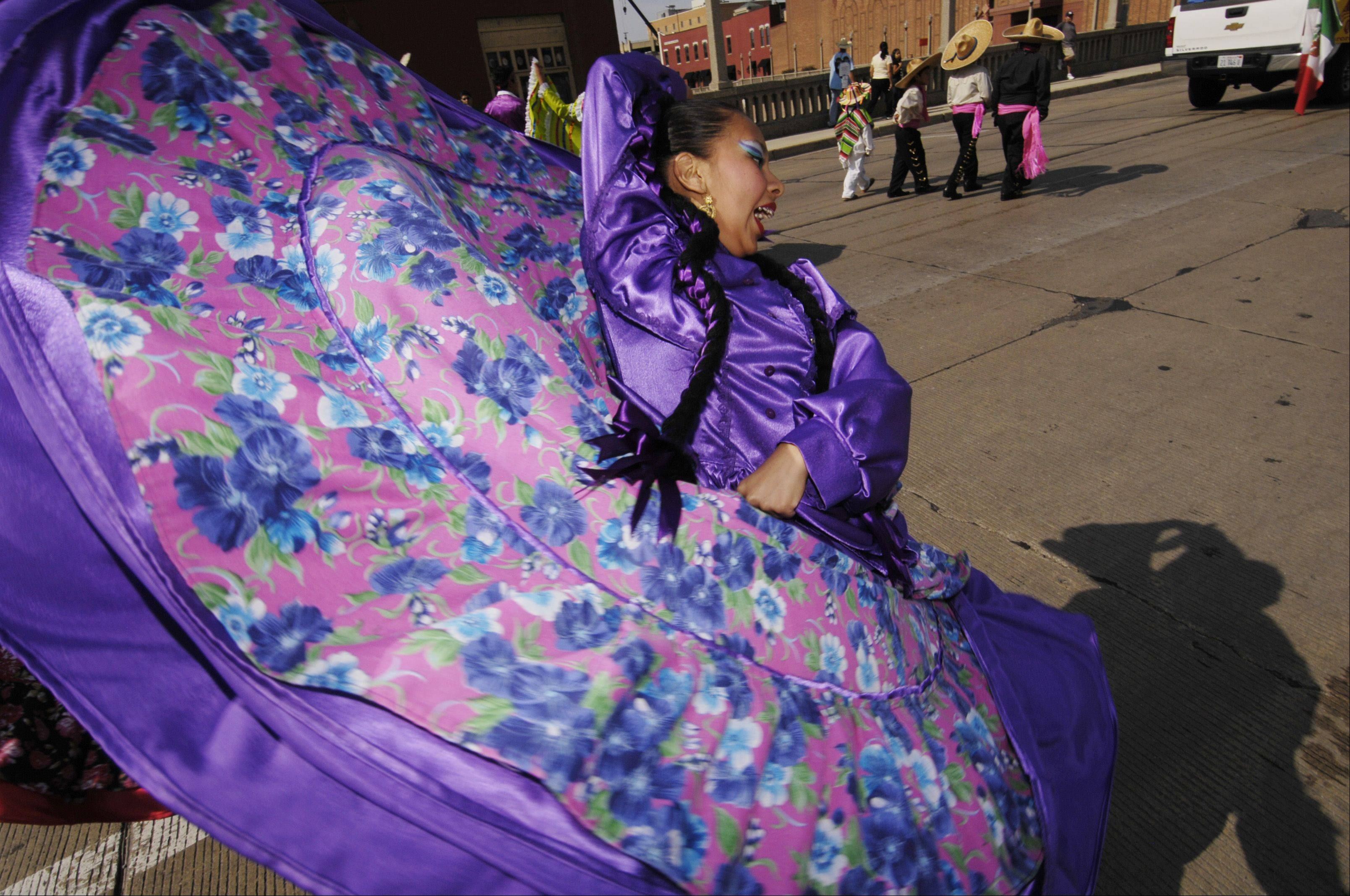 Ballet Folklorico Quetzalcoatl performs Sunday during the third annual Fiestas Patrias in celebration of Mexican independence in Aurora. The three-day festival celebrates the region's diversity.
