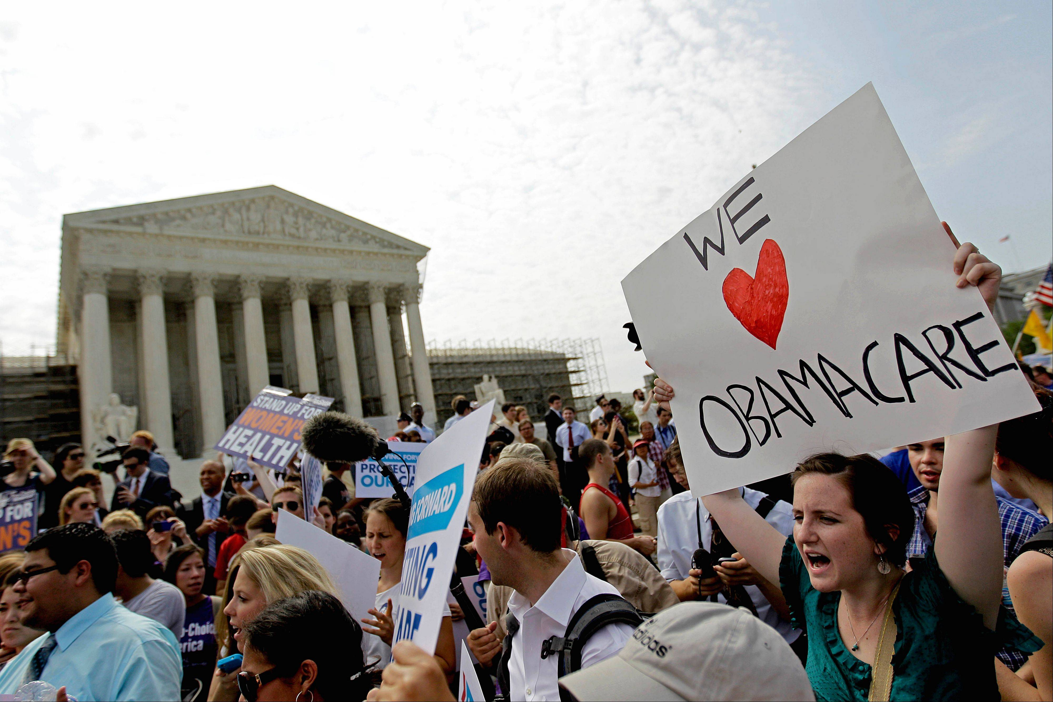 Supporters of President Barack Obama's health care law outside the Supreme Court in Washington after the court's ruling was announced. America�s health care system is unsustainable. It�s not one problem, but three combined: high cost, uneven quality and millions uninsured. Major changes will keep coming. Every family will be affected.