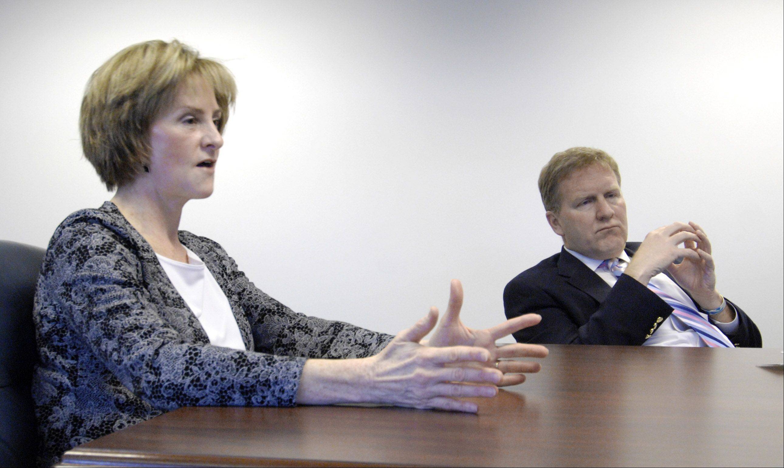 Illinois Senate Republican leader Christine Radogno and Illinois House Republican leader Tom Cross speak with the Daily Herald Editorial Board.