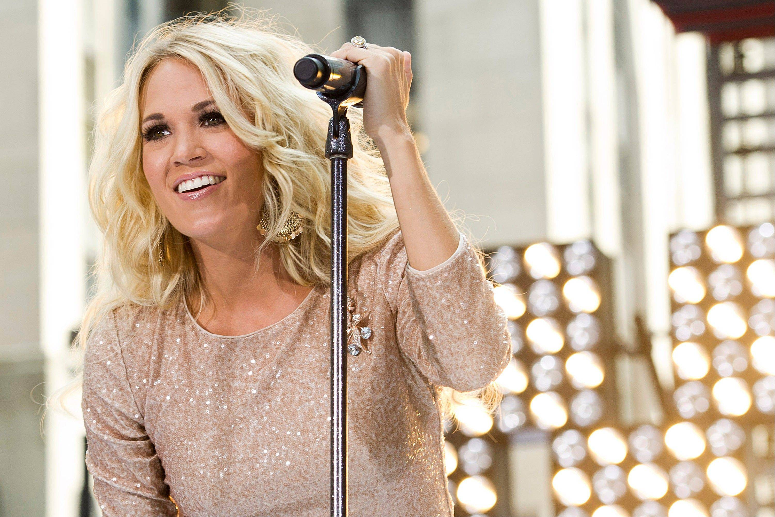 "Carrie Underwood is on the road for her ""Blown Away"" tour. She plays the United Center Dec. 12."