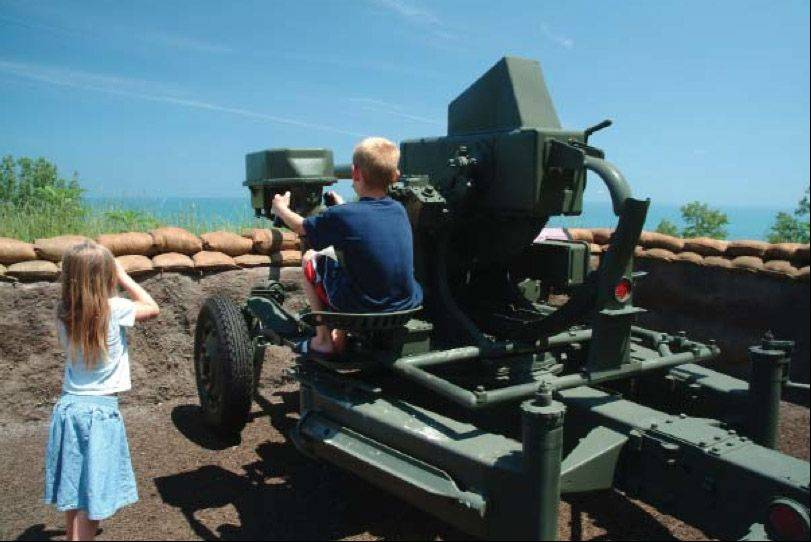 An inactive artillery piece is one of the public attractions at the Fort Sheridan Forest Preserve near Highland Park.
