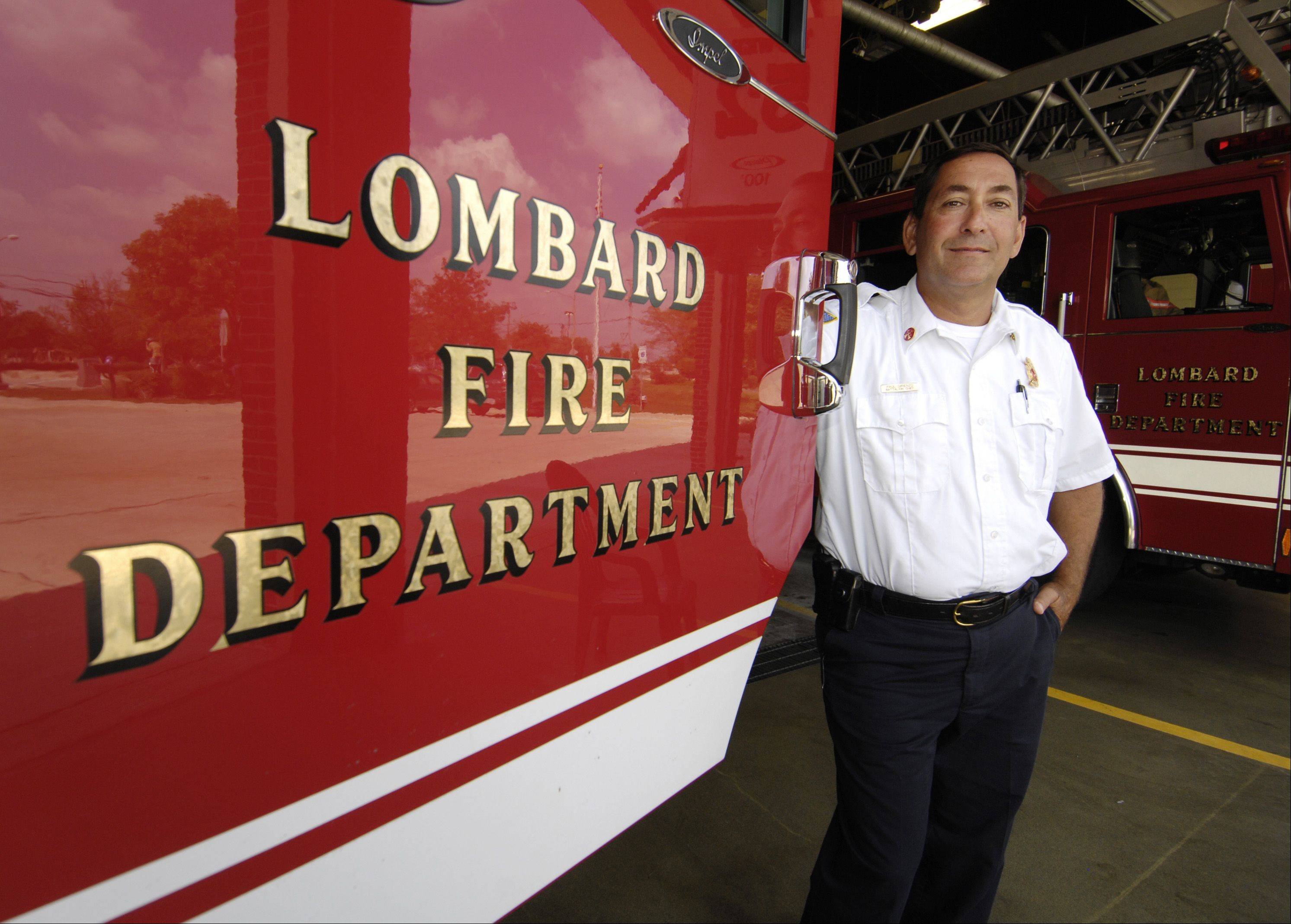 Paul DiRienzo was sworn in as Lombard fire chief Sept. 6. One of his first goals is to increase the department's capacity for responding to medical emergencies.