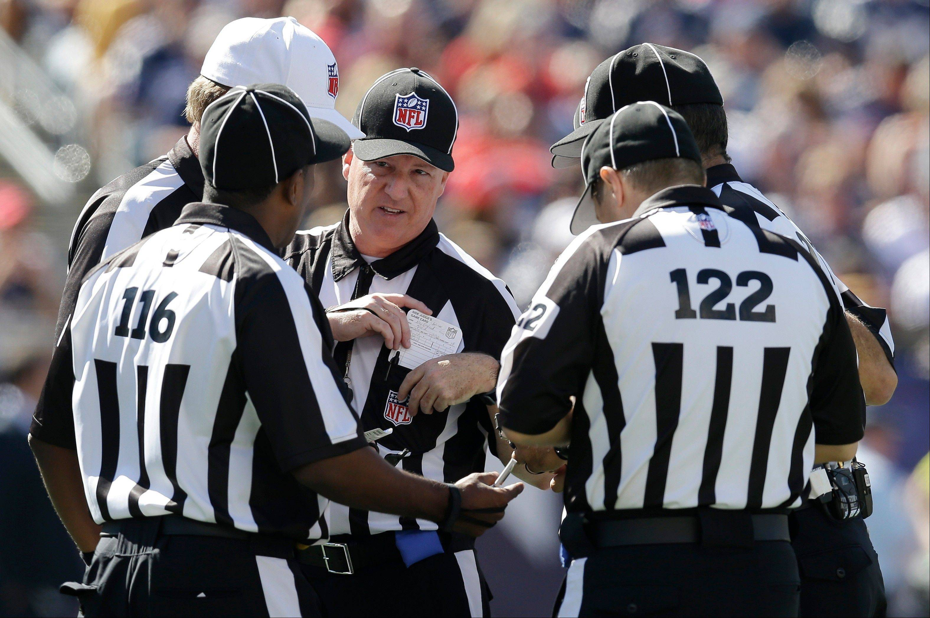 Thanks to replacement officials constantly huddling to talk things over, NFL games are dragging on and on, says Bob LeGere, who wants Commissioner Roger Goodell to settle the contract dispute with union officials.