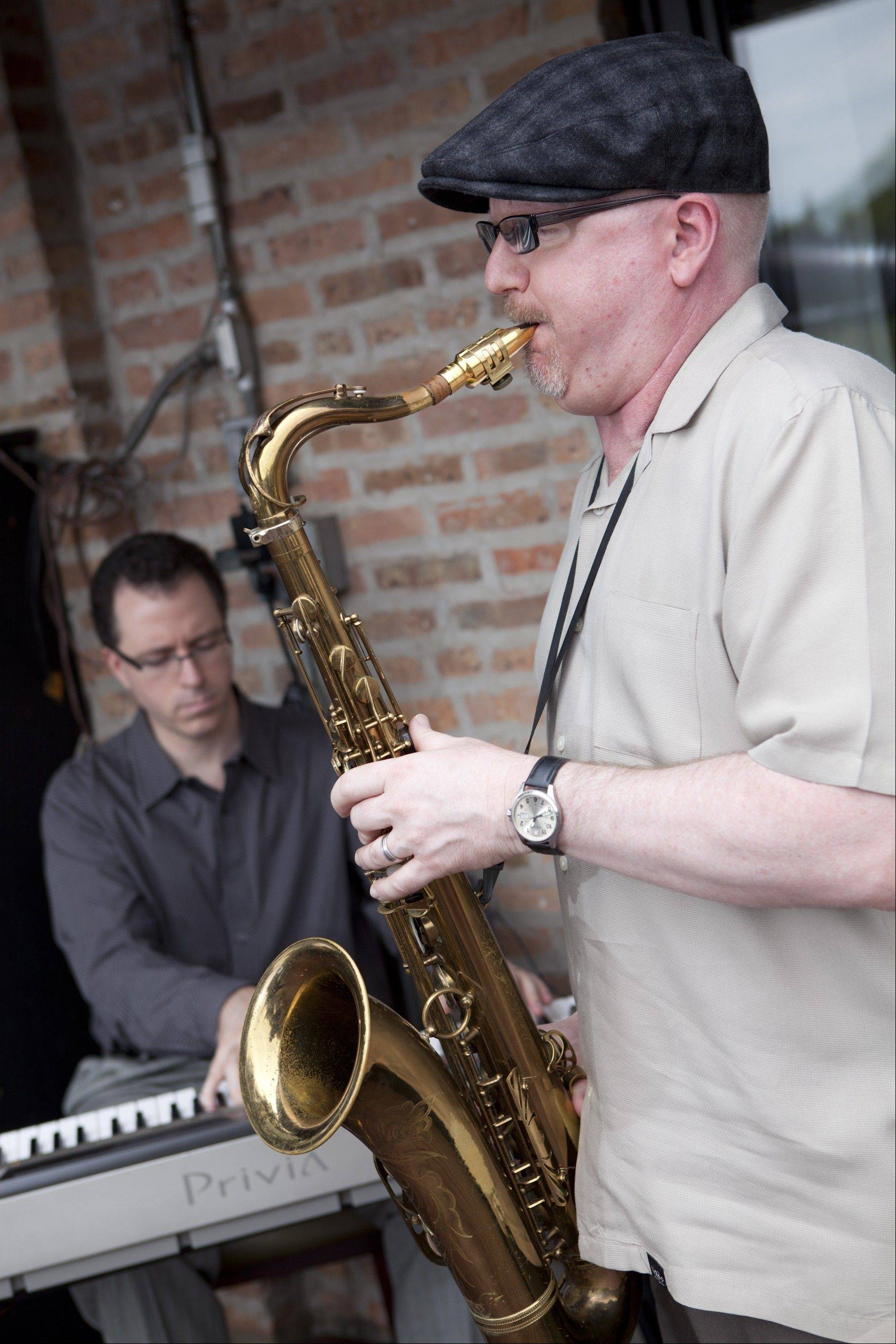 Mike Frost plays sax while Tim Green plays keyboards in the Mike Frost Duo. They will perform Sunday at Bistro One West in St. Charles as part of the St. Charles Jazz Weekend.