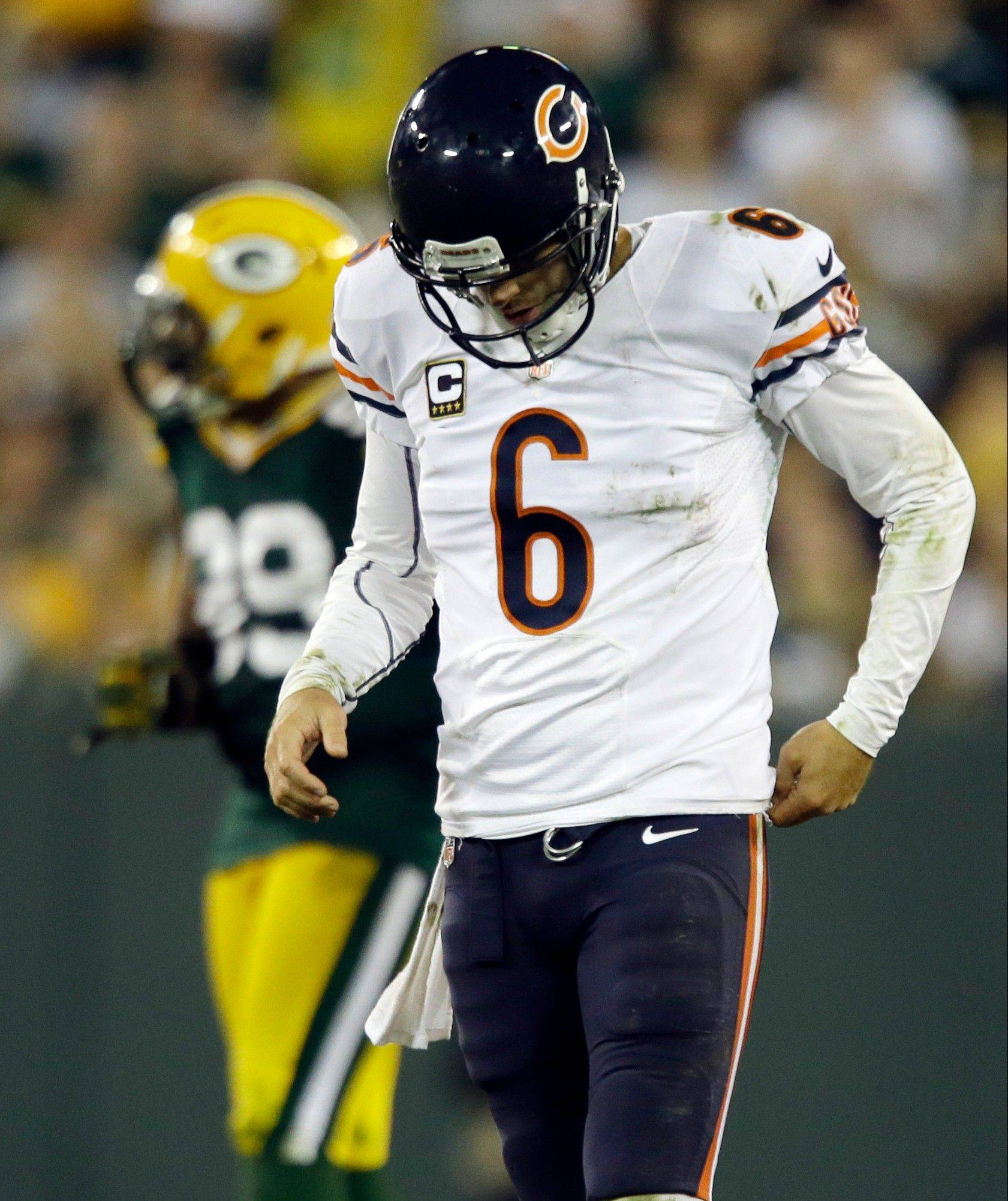 The biggest mistakes Bears quarterback Jay Cutler made in Green Bay didn't involve his attitude. It was his 4 interceptions.