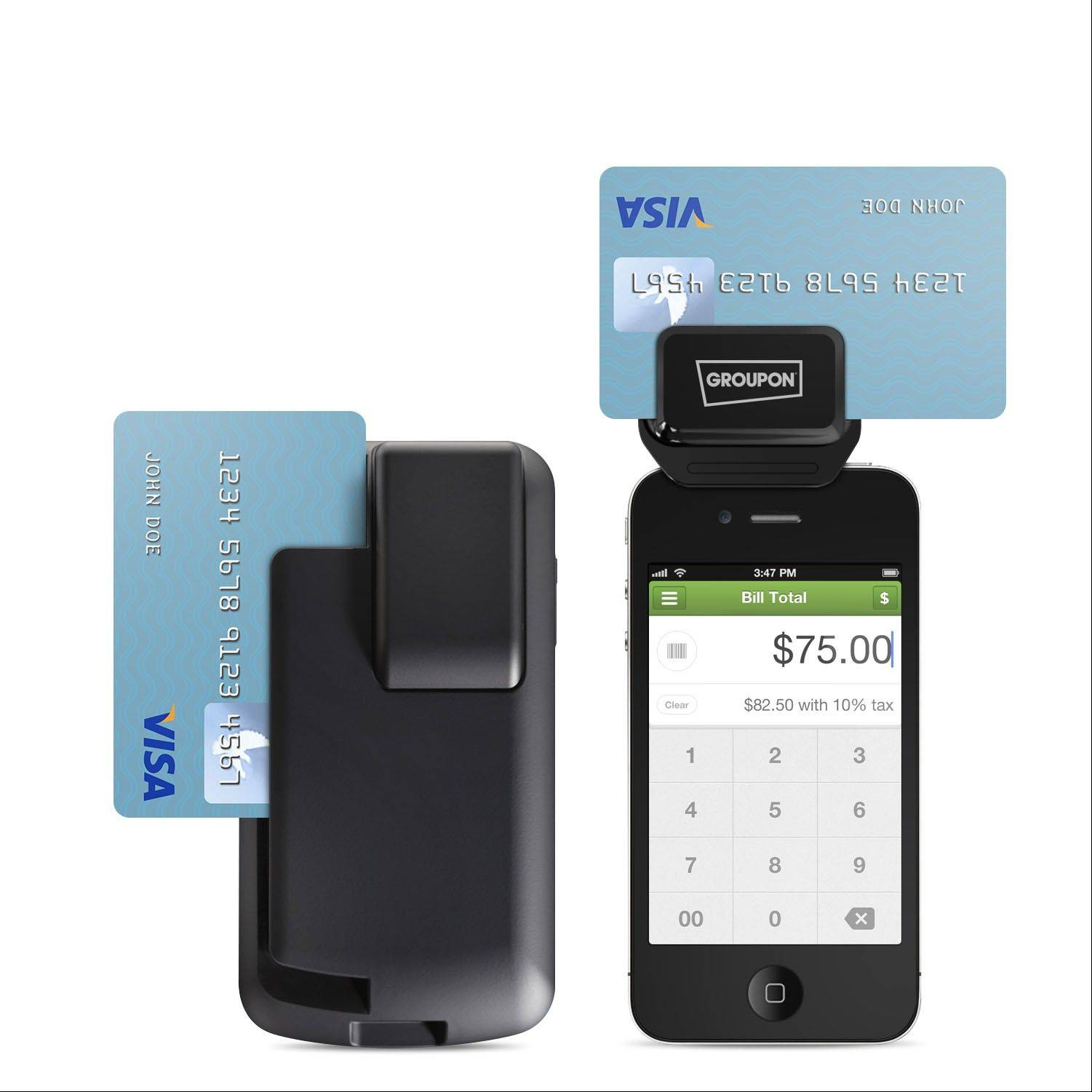 Groupon's new payment service allows businesses to run credit cards using an iPhone or iPod Touch.