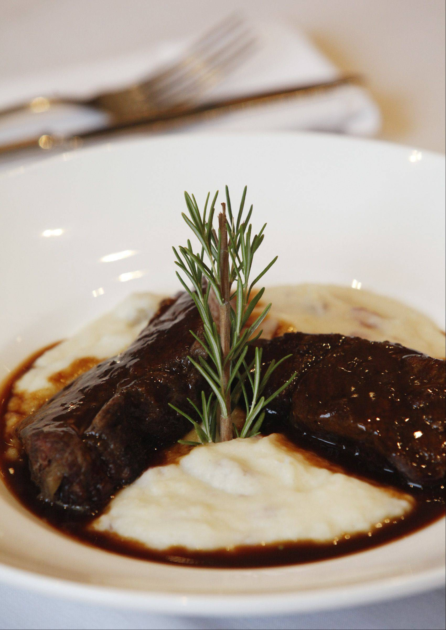 Braised short ribs with parmesan and chive mashed potatoes is a winner at Marzano's Wood Fire Italian restaurant in McHenry.