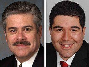 Fred Crespo, left, opposes Ramiro Juarez in the 44th State House District for the 2012 General Election.
