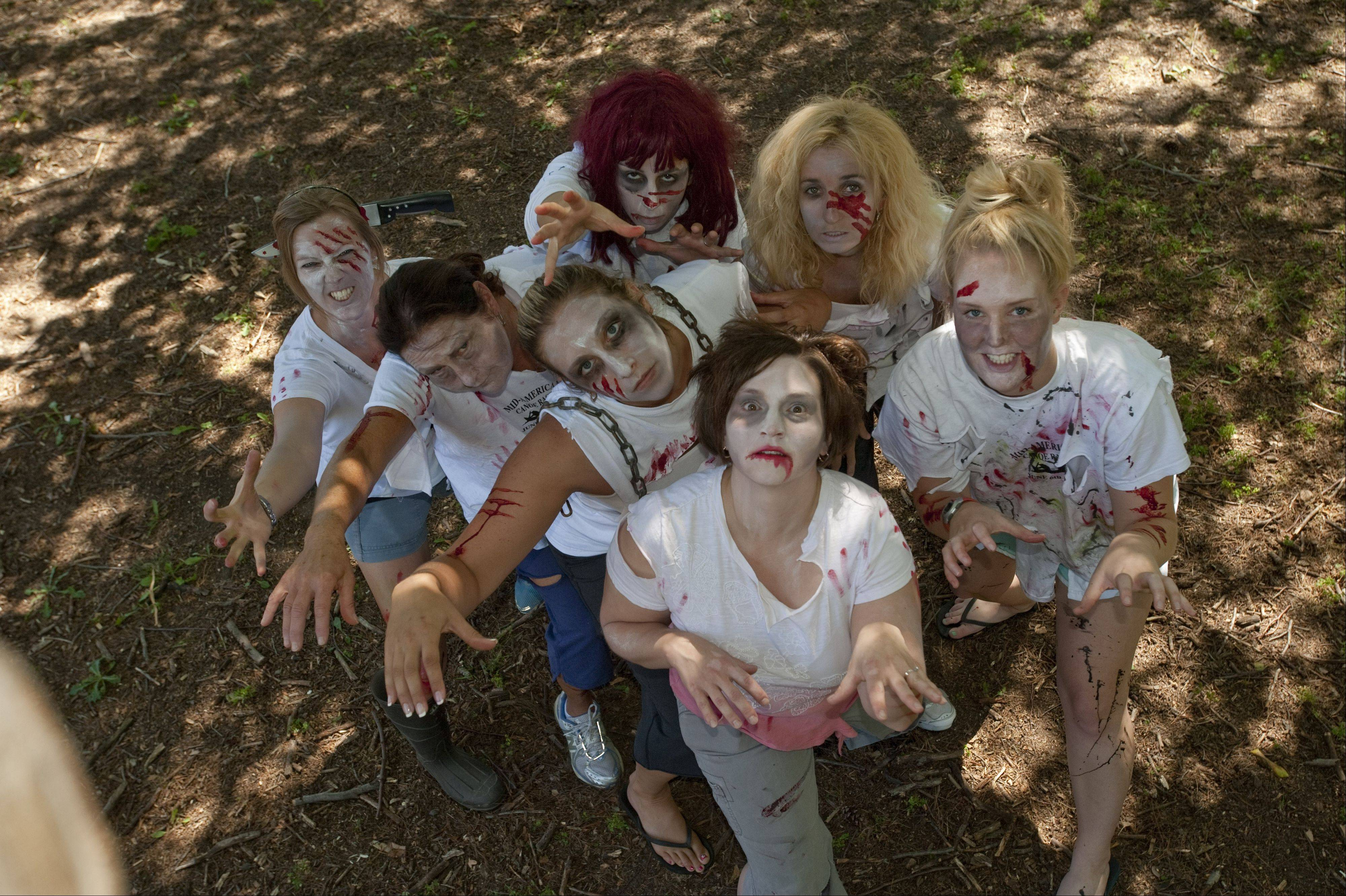Zombies in tattered clothes and gory makeup will chase and stumble at racers participating in the Fox Valley Park District's first Zombie Invasion 5K on Friday, Oct. 5, at Blackberry Farm.