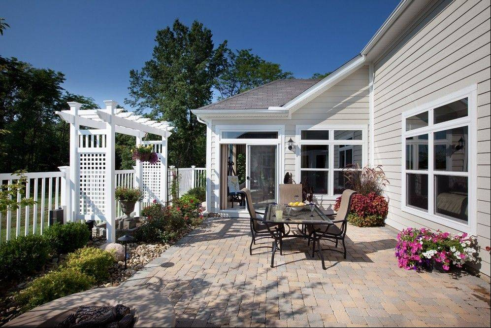 All homes in Villas at Fox Run in Plainfield feature an outdoor courtyard.