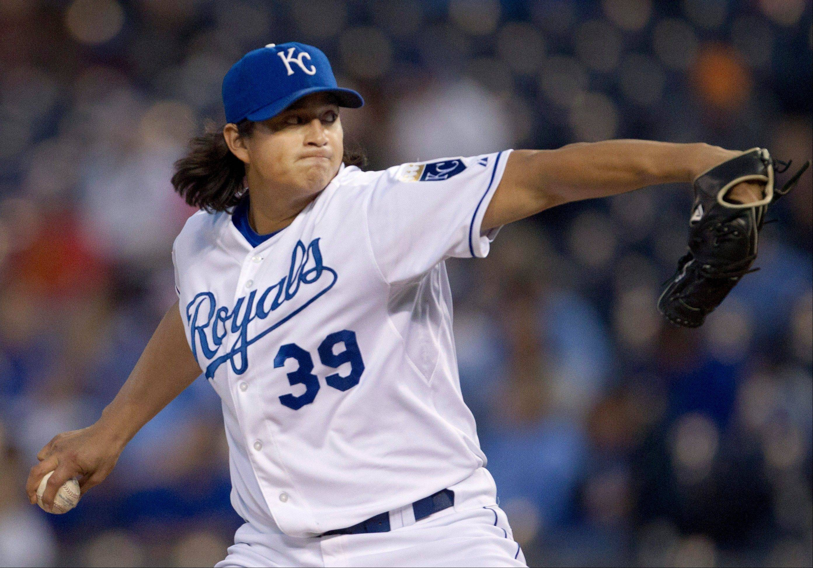 Kansas City starter Luis Mendoza allowed two runs and eight hits on Friday in a home win over Cleveland.