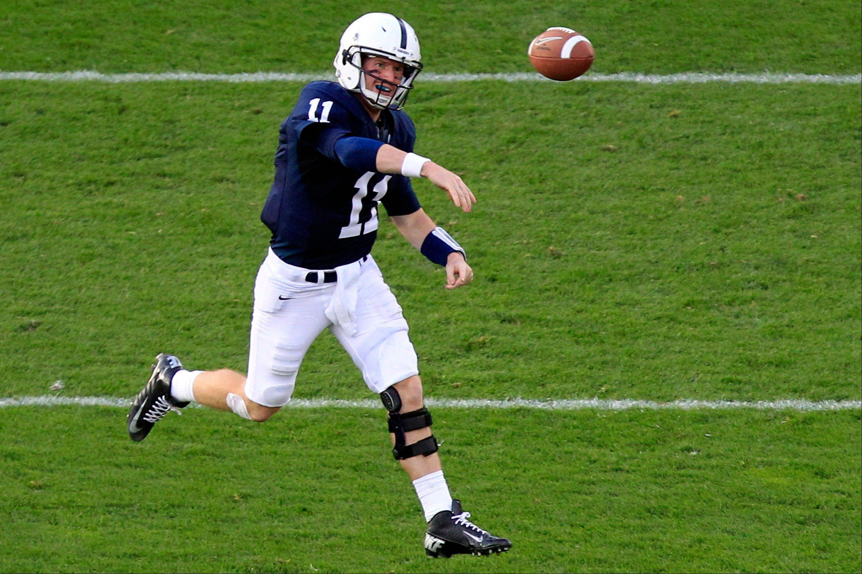 Penn State quarterback Matt McGloin throws during the fourth quarter of last week's win over Navy.