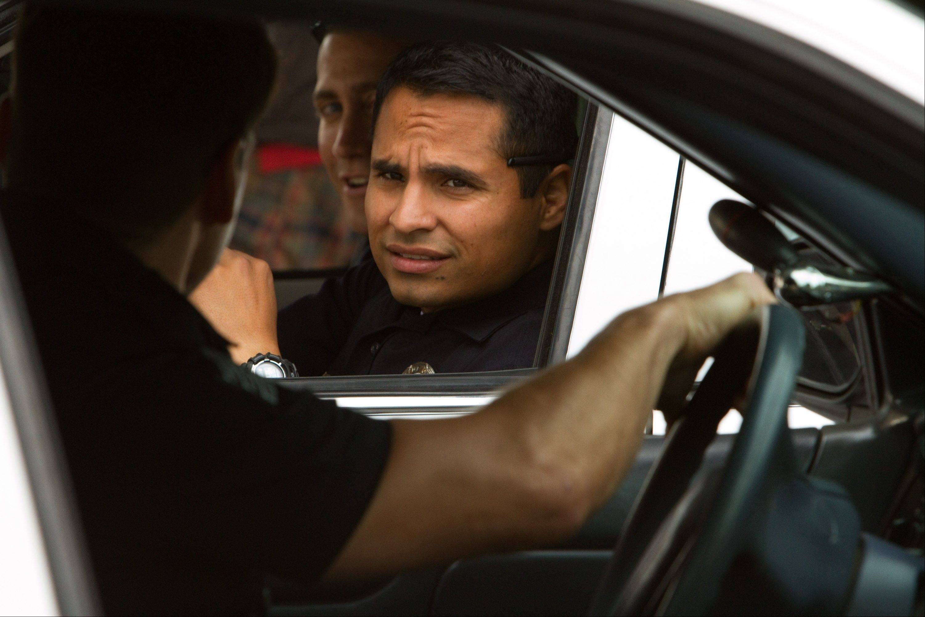 "Chicago actor Michael Pena plays an L.A. cop in David Ayer's new street drama ""End of Watch."" Pena admits stealing a little bit of Marlon Brando."