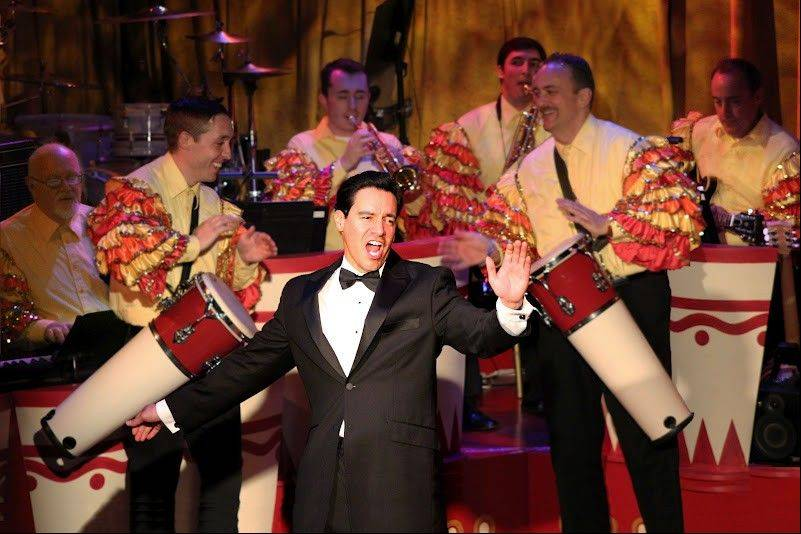 "Ricky (Bill Mendieta) performs with the Ricky Ricardo Orchestra in ""I Love Lucy Live On Stage"" at the Broadway Playhouse at Water Tower Place in Chicago."