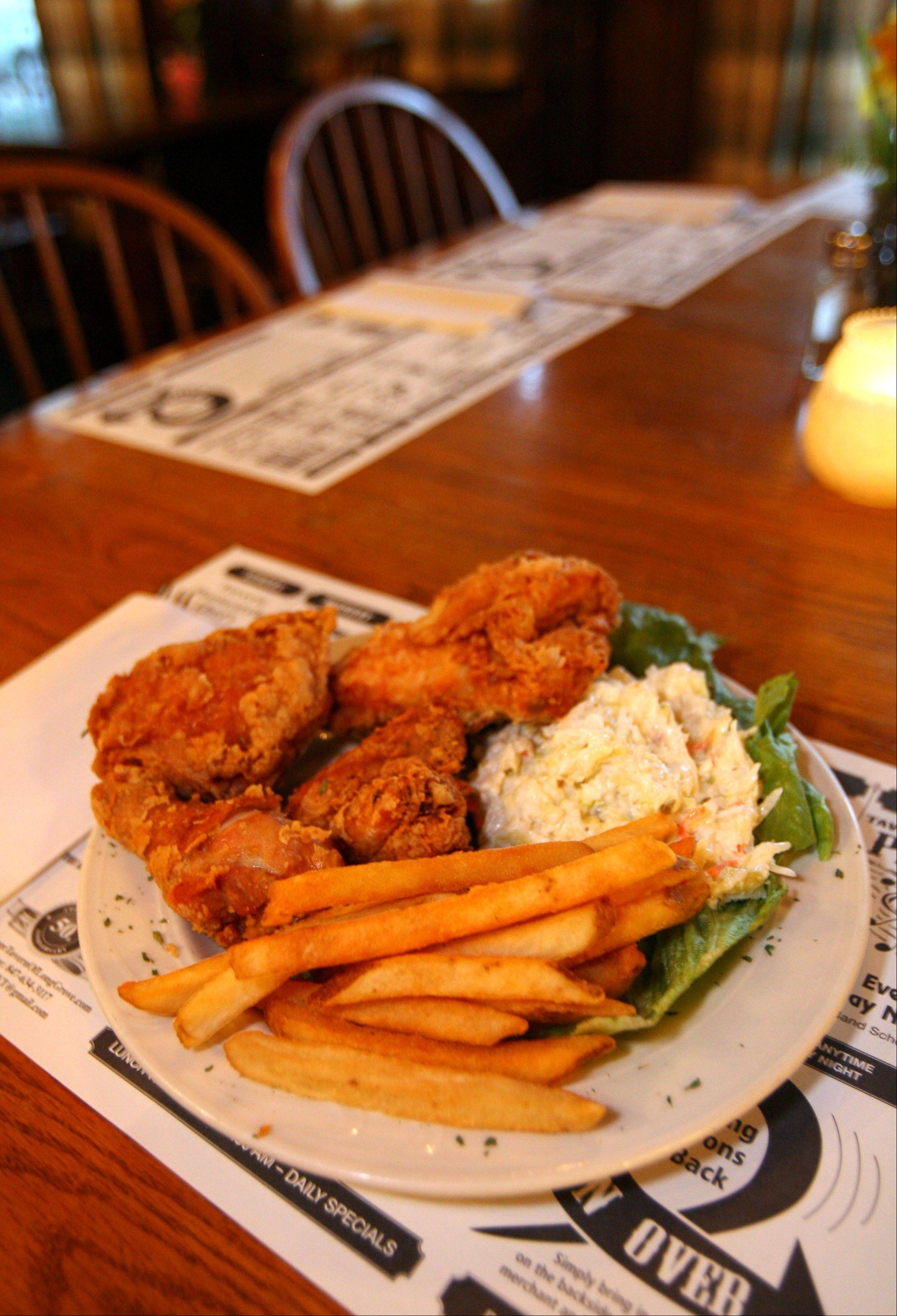 Broasted chicken is one of the house specialties at The Village Tavern in Long Grove.